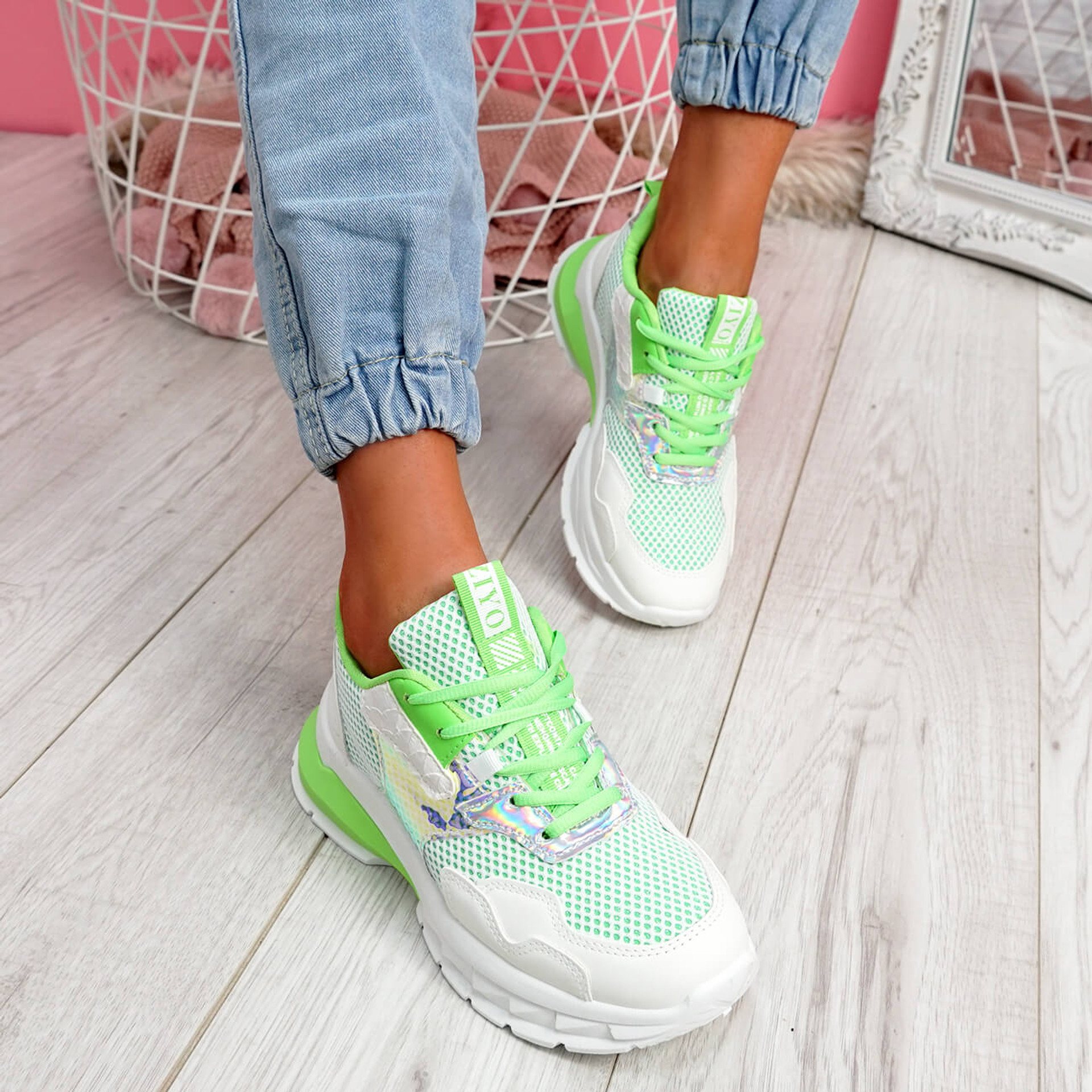 Frimma Green Chunky Trainers