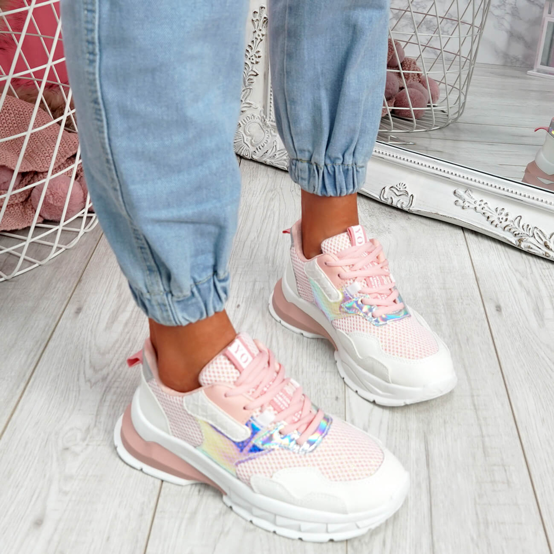 Frimma Pink Chunky Trainers