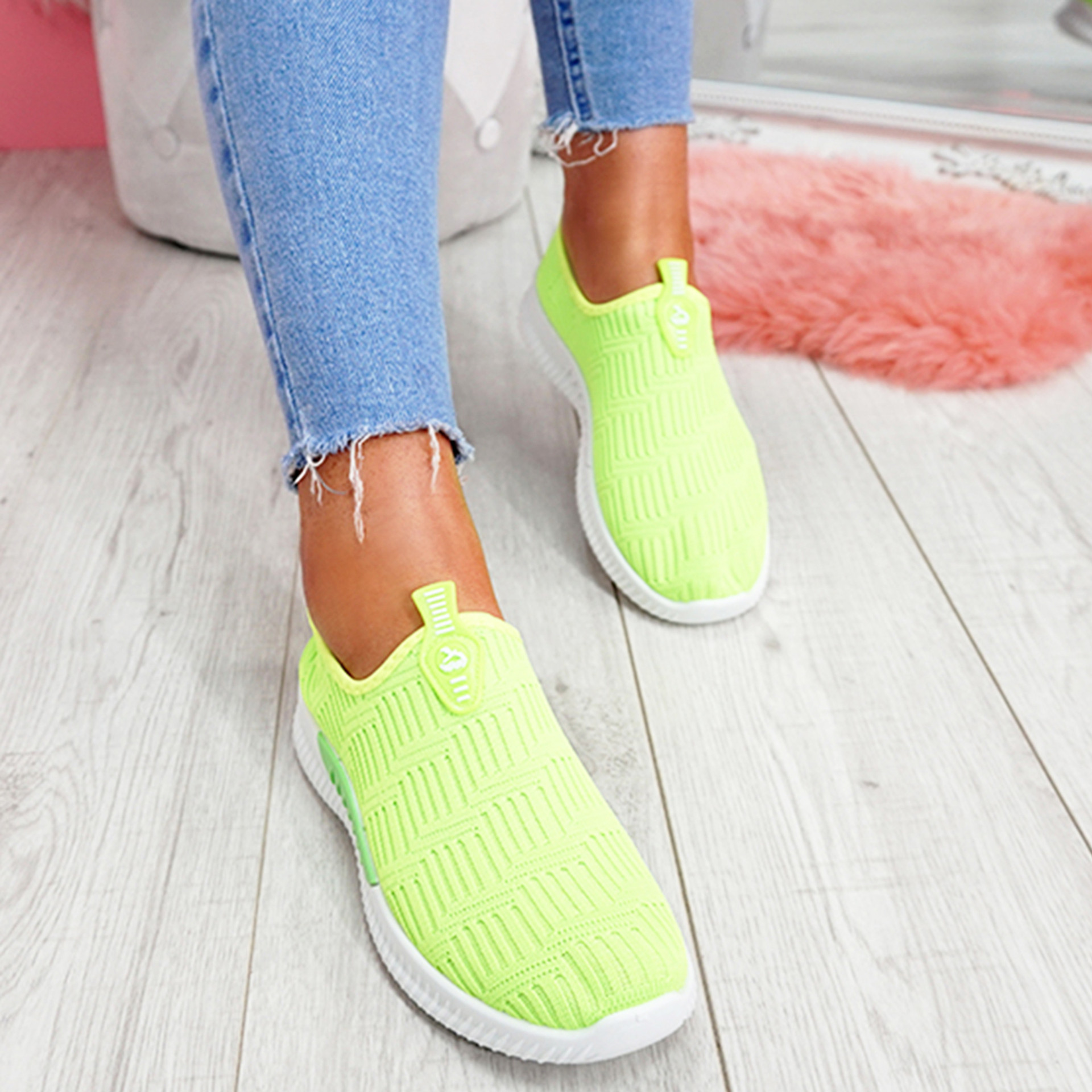 Hegy Green Slip On Trainers