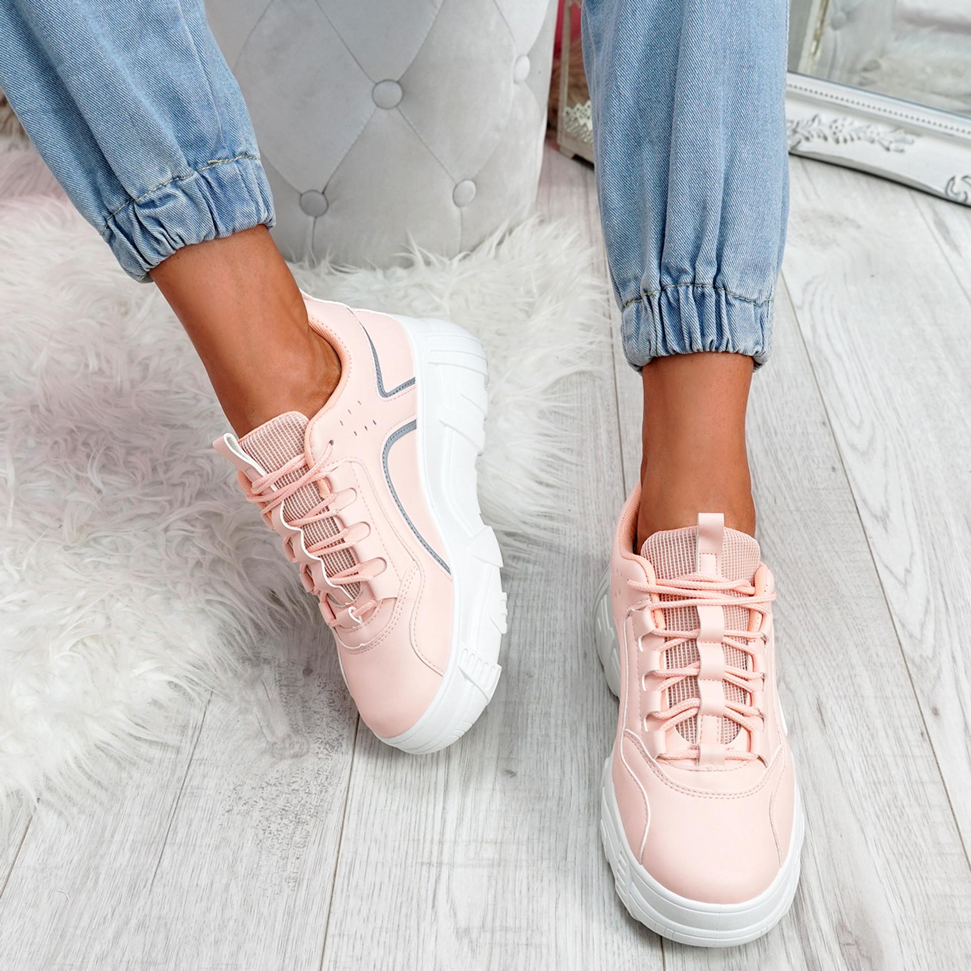 Esi Pink Chunky Platform Trainers