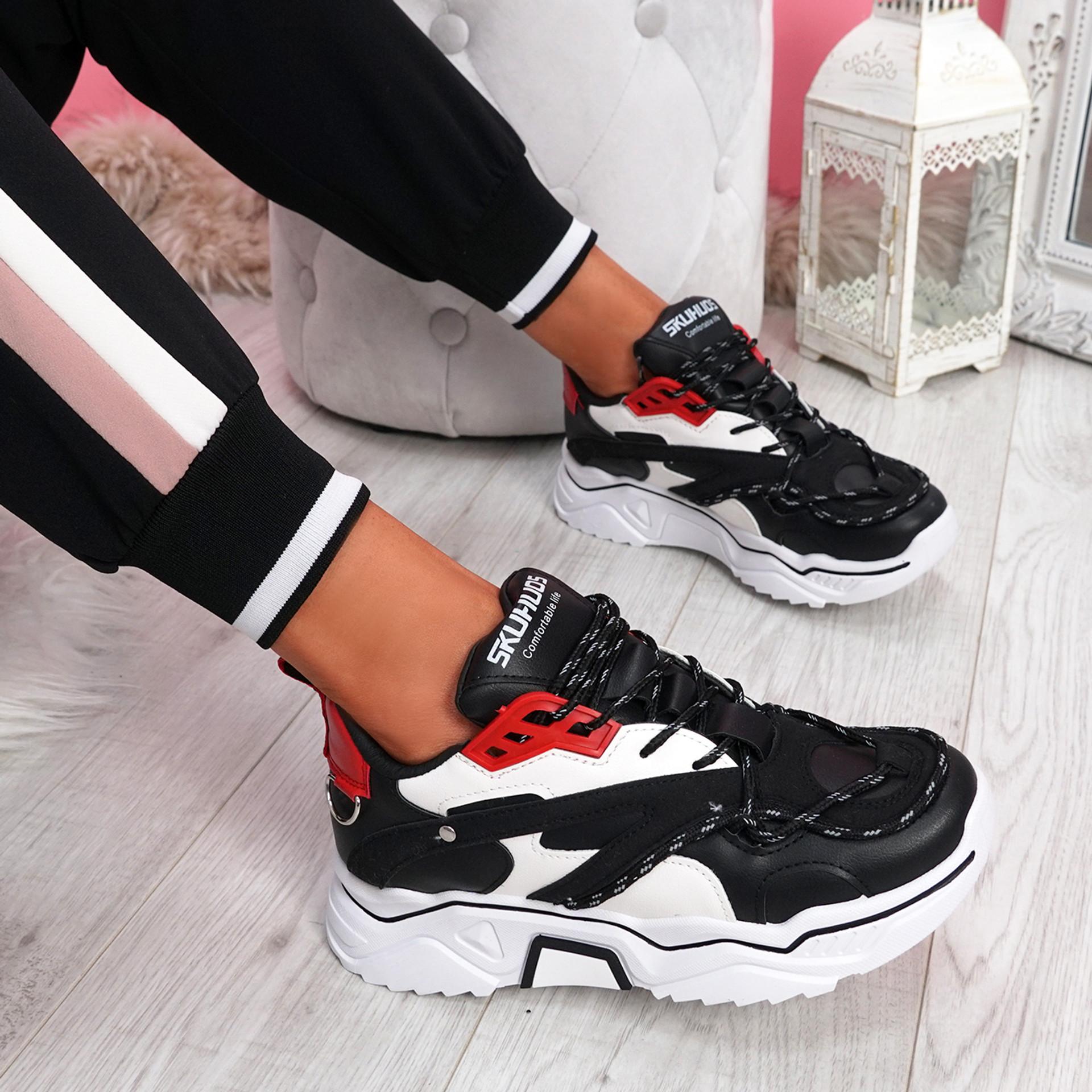 Elya Black Chunky Sneakers