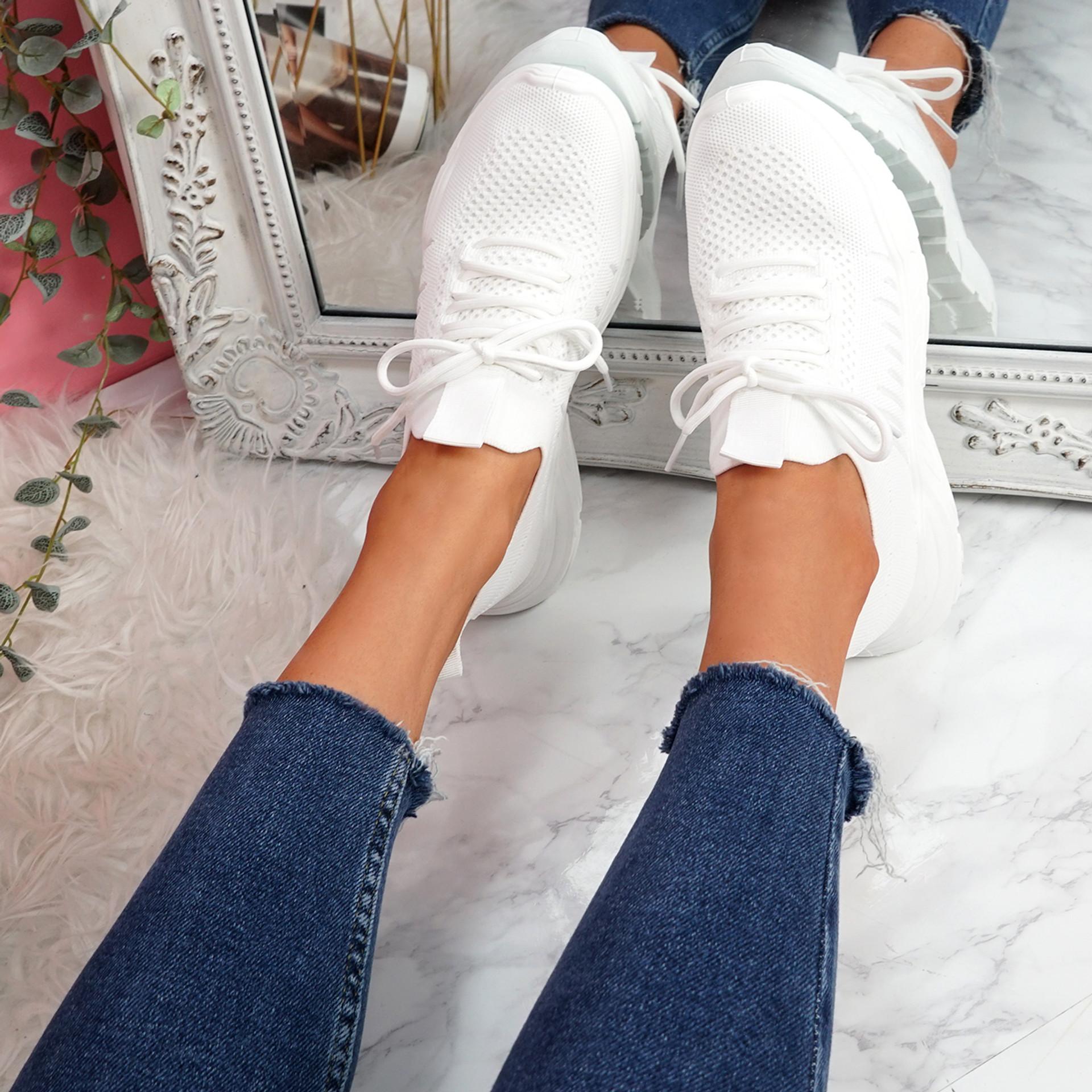 Leppe White Running Sneakers