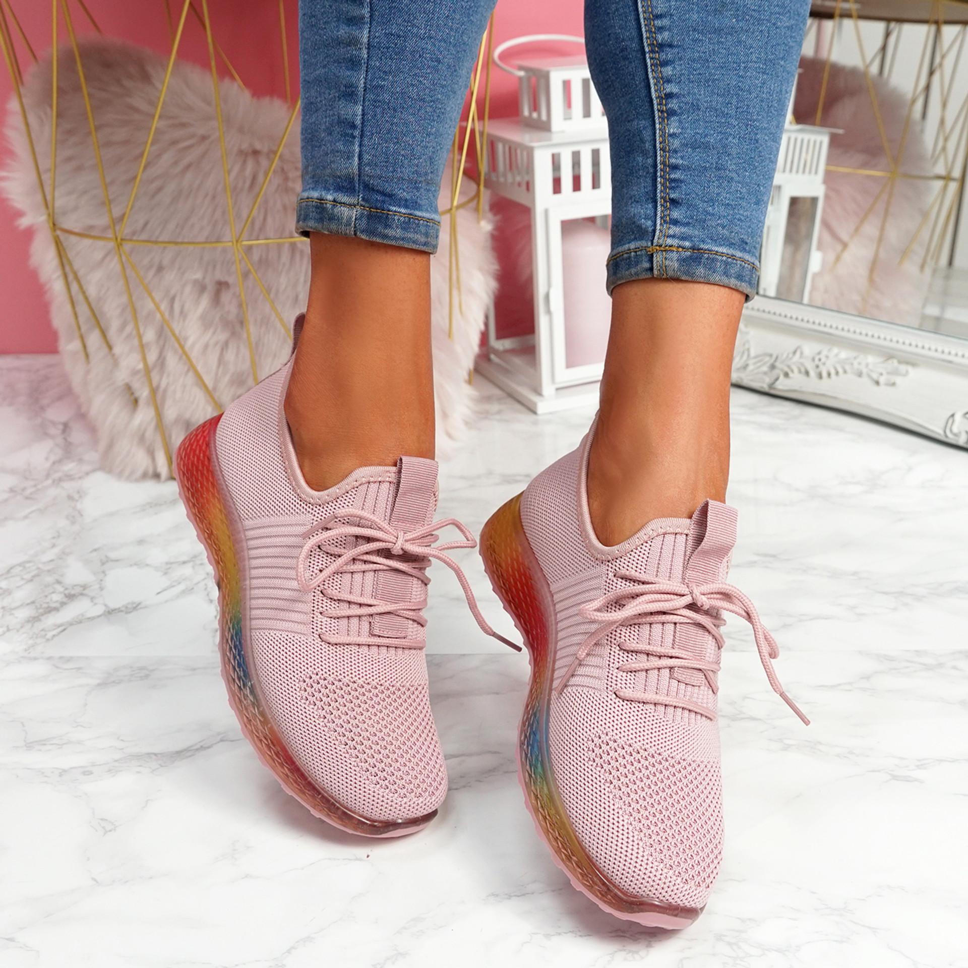 Eva Pink Rainbow Trainers