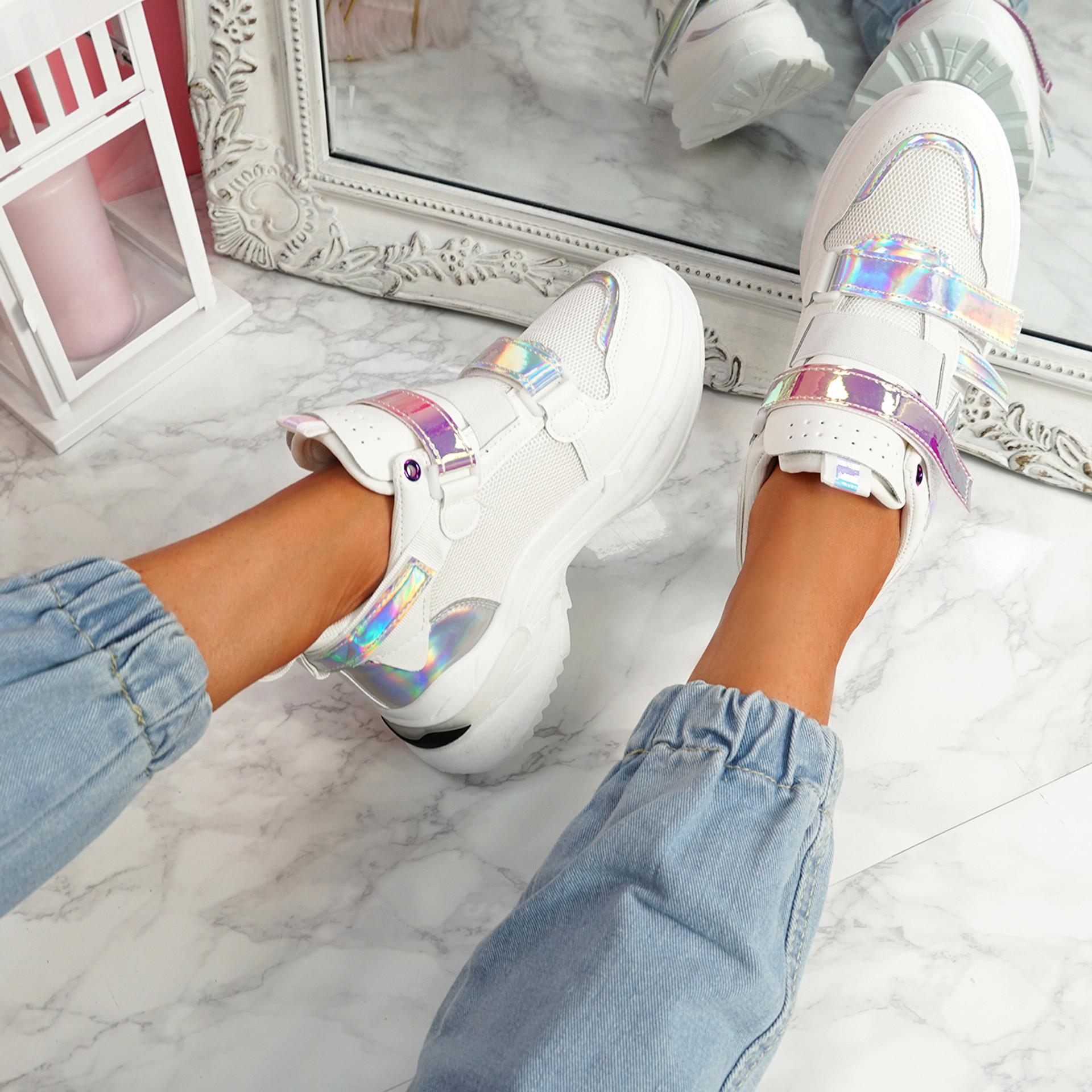 Kaya White Chunky Sneakers