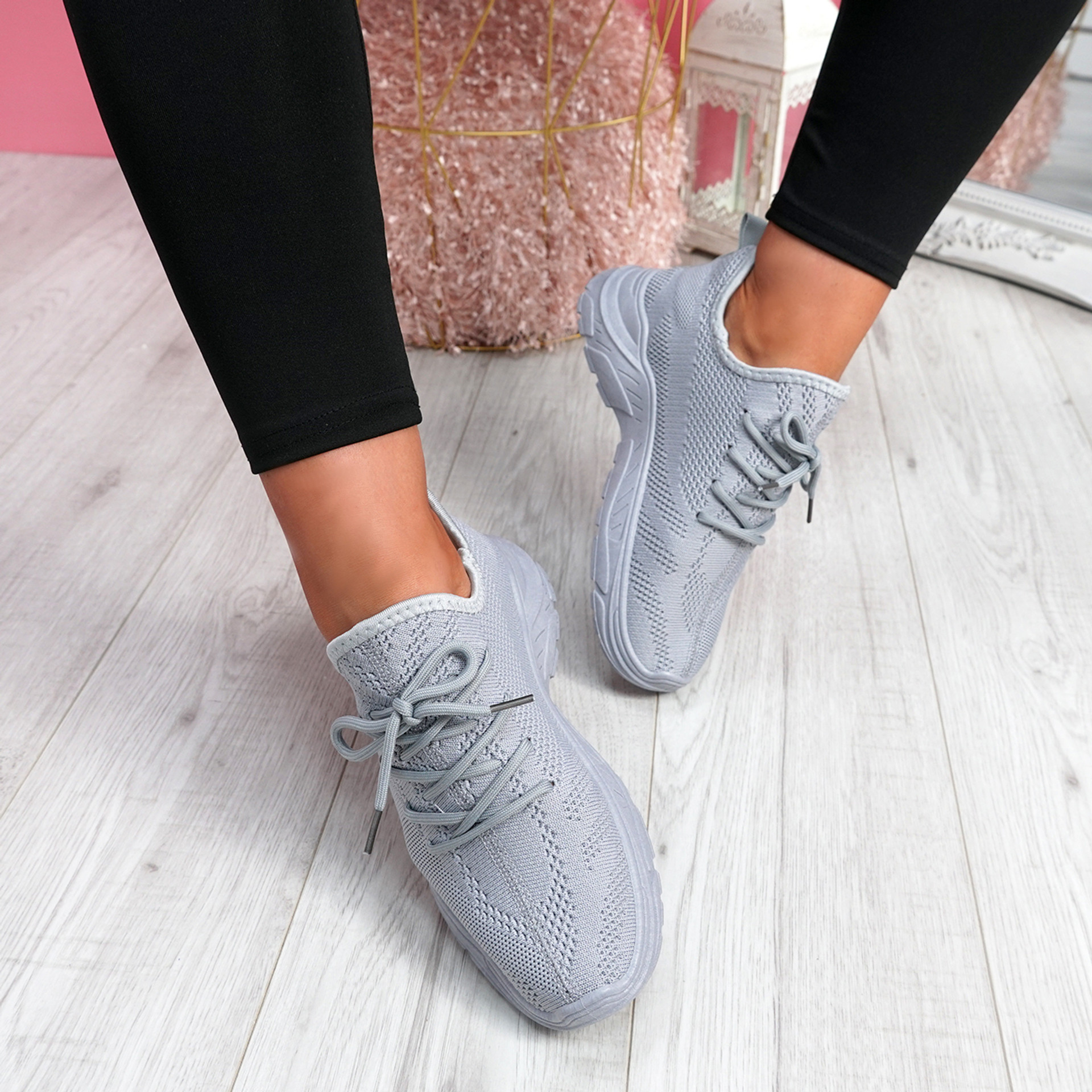 Rilla Grey Chunky Trainers