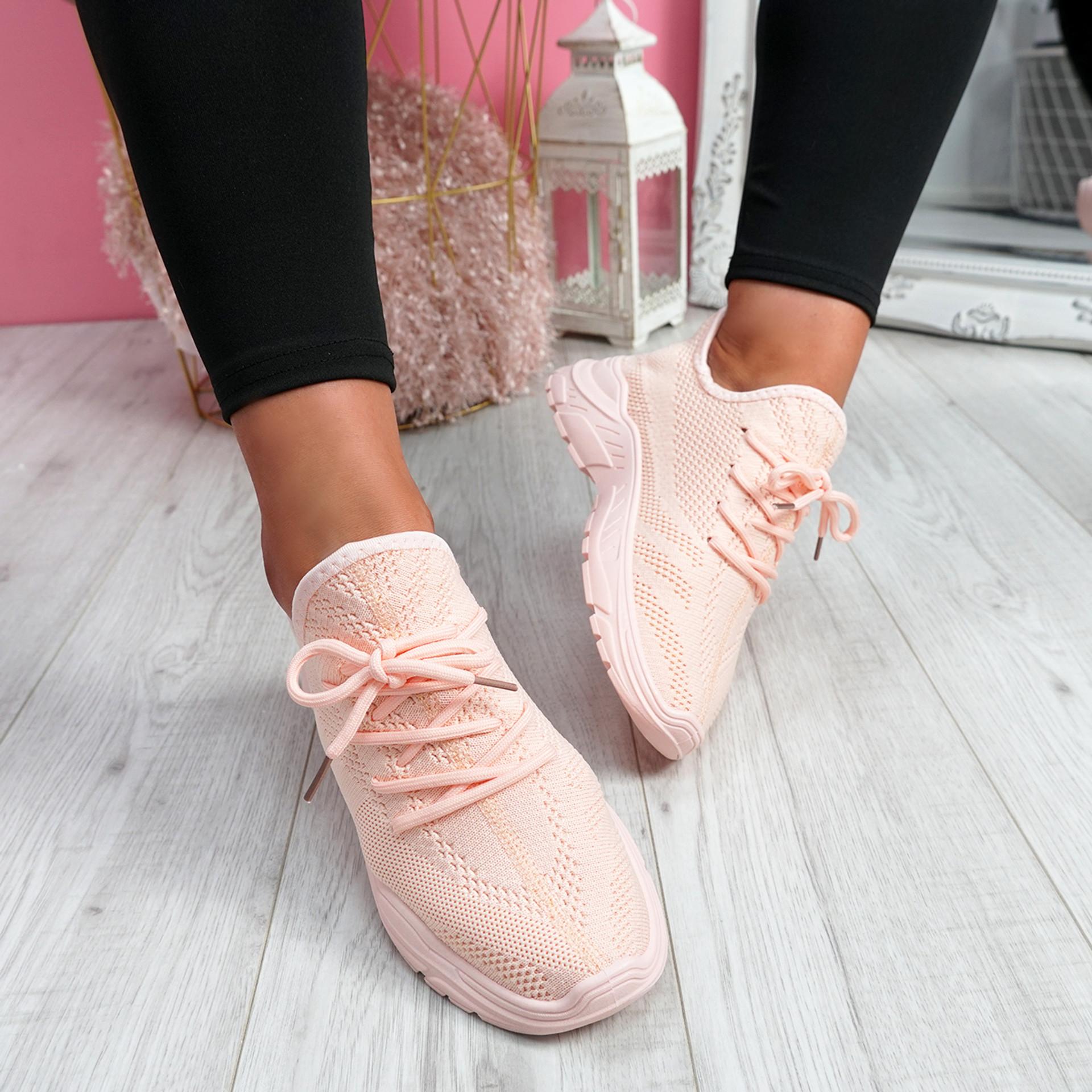 Rilla Pink Chunky Trainers
