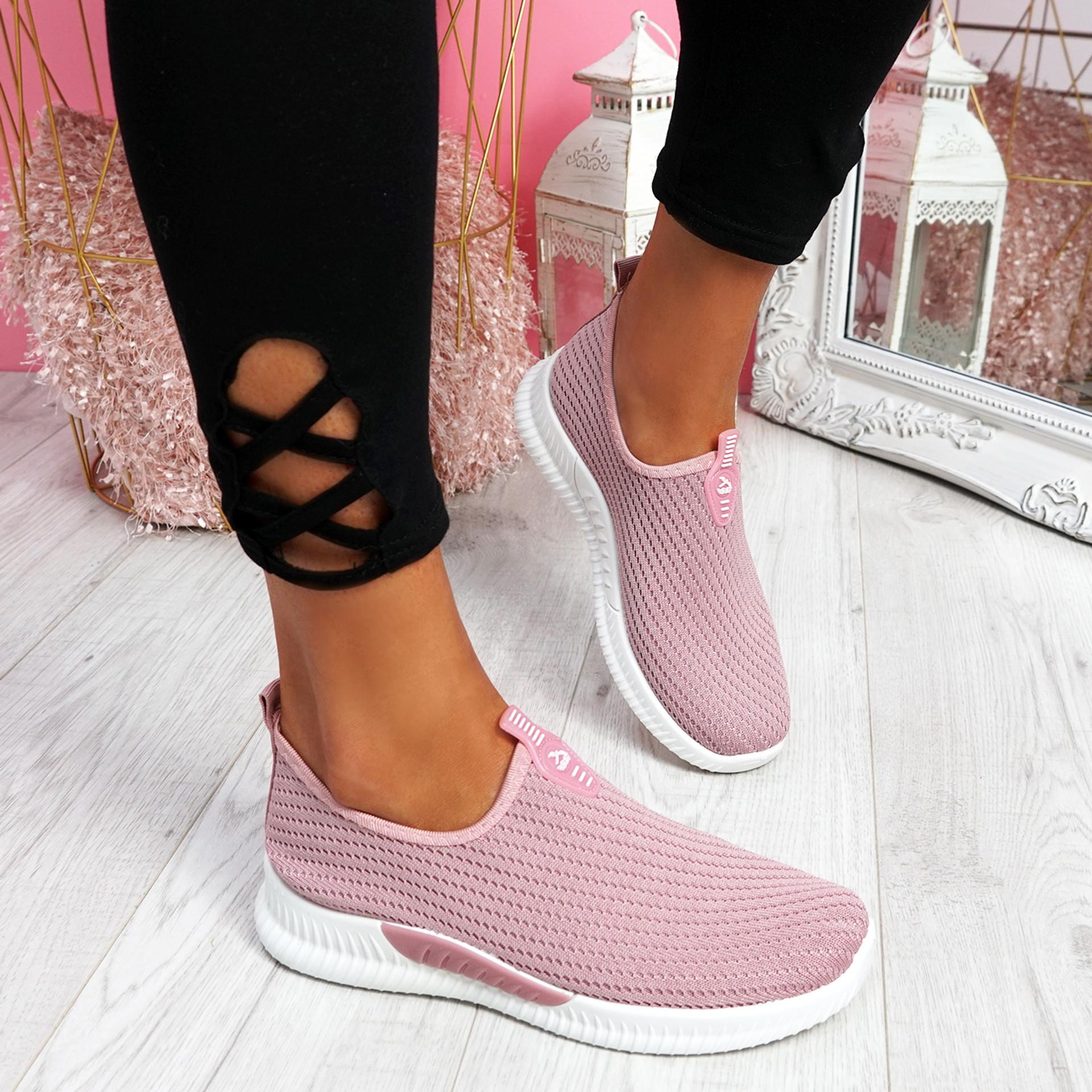 Derra Pink Slip On Sneakers