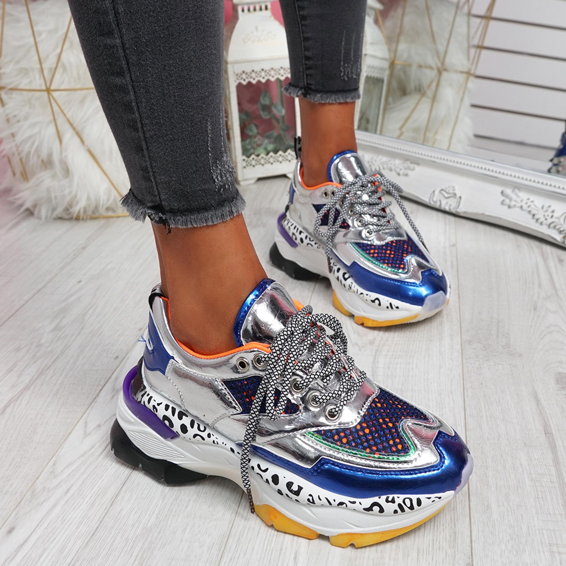 Porya Blue Chunky Sneakers