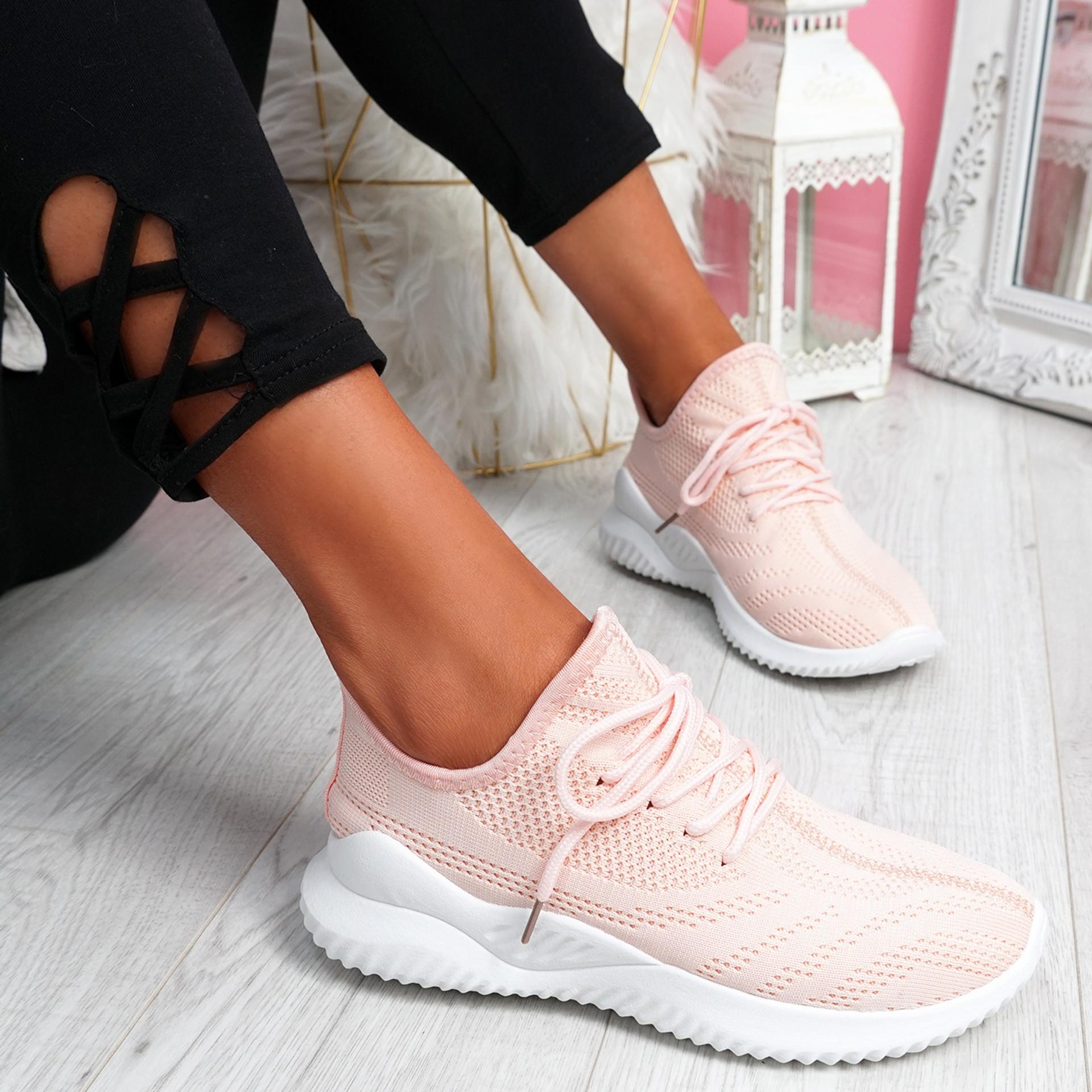 Lammy Pink Mesh Sneakers