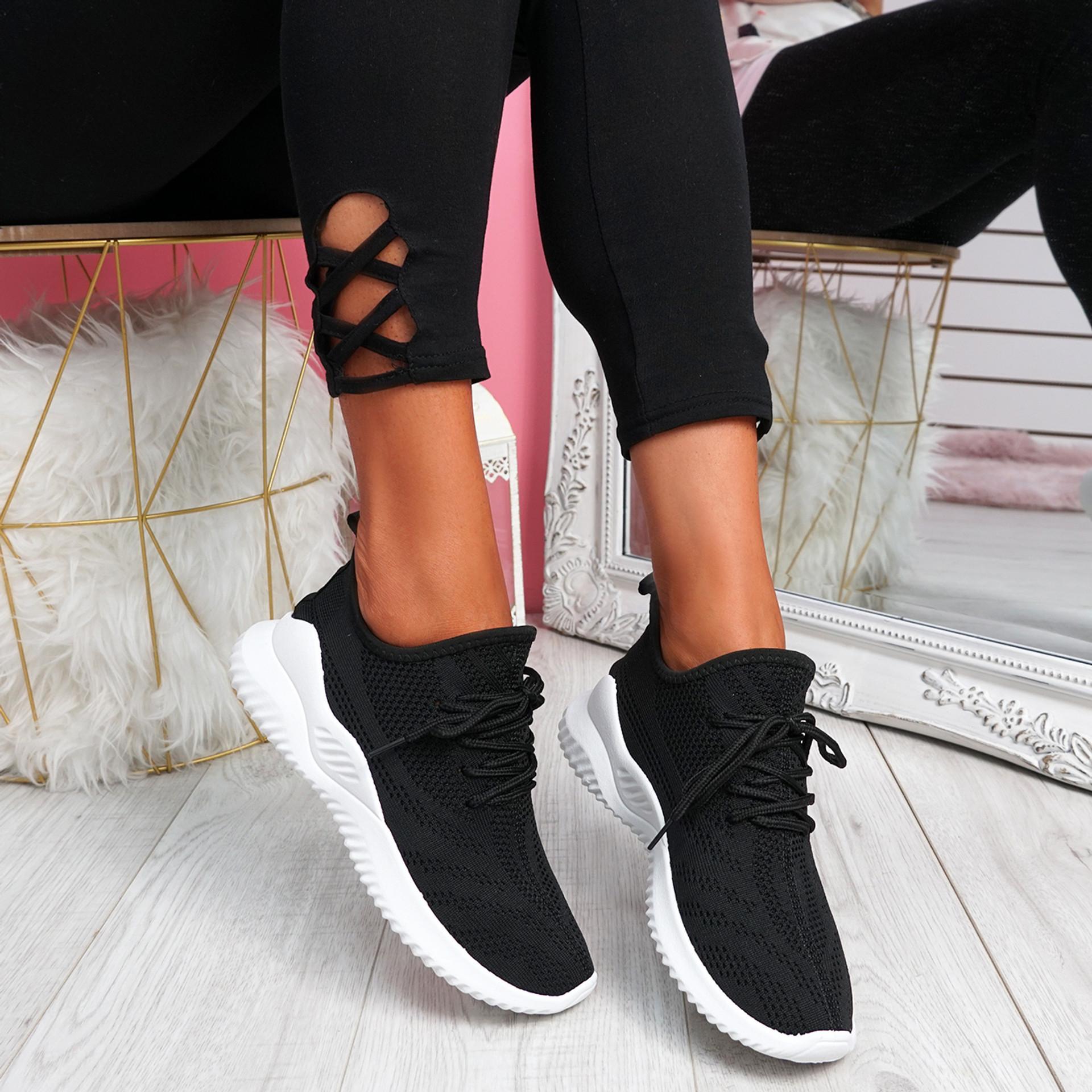 Lammy Black Mesh Sneakers