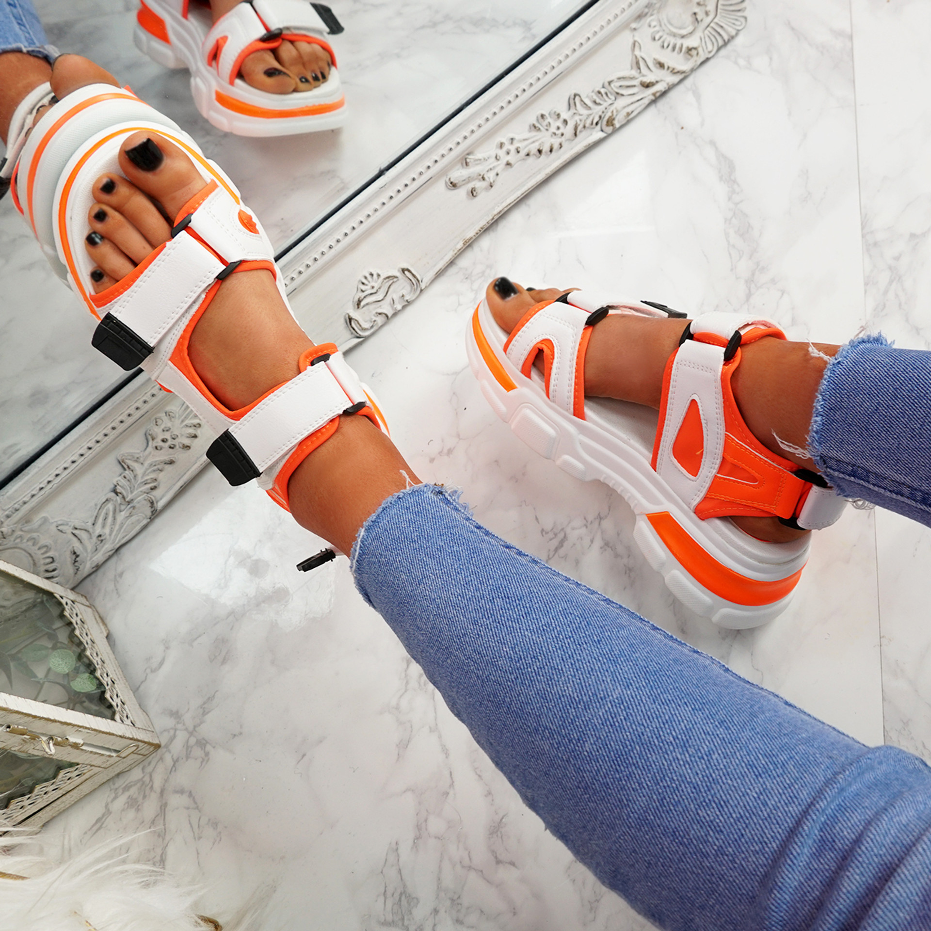 Juppo Orange Chunky Sandals