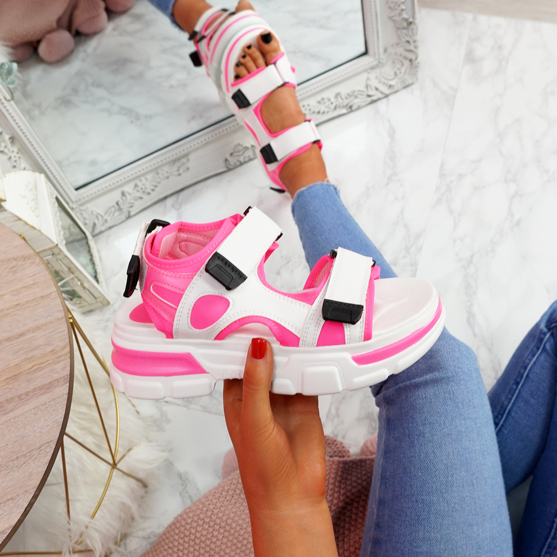 Juppo Pink Chunky Sandals
