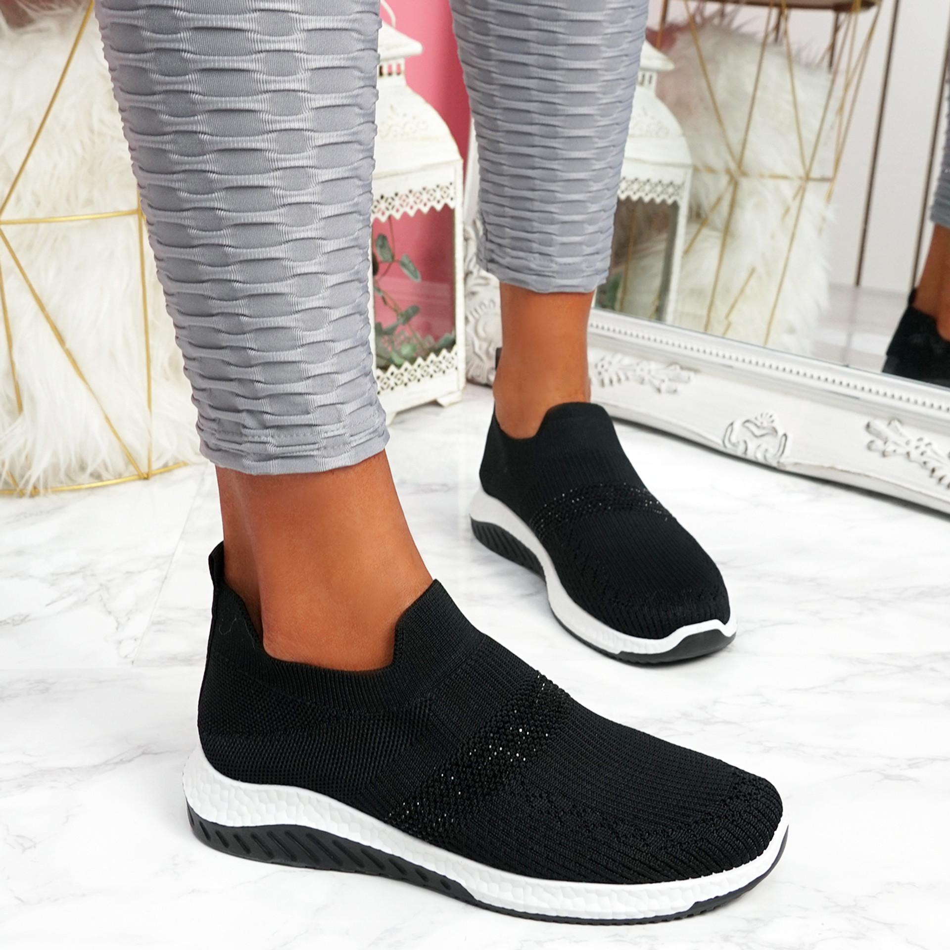 Goppa Black Studded Sneakers