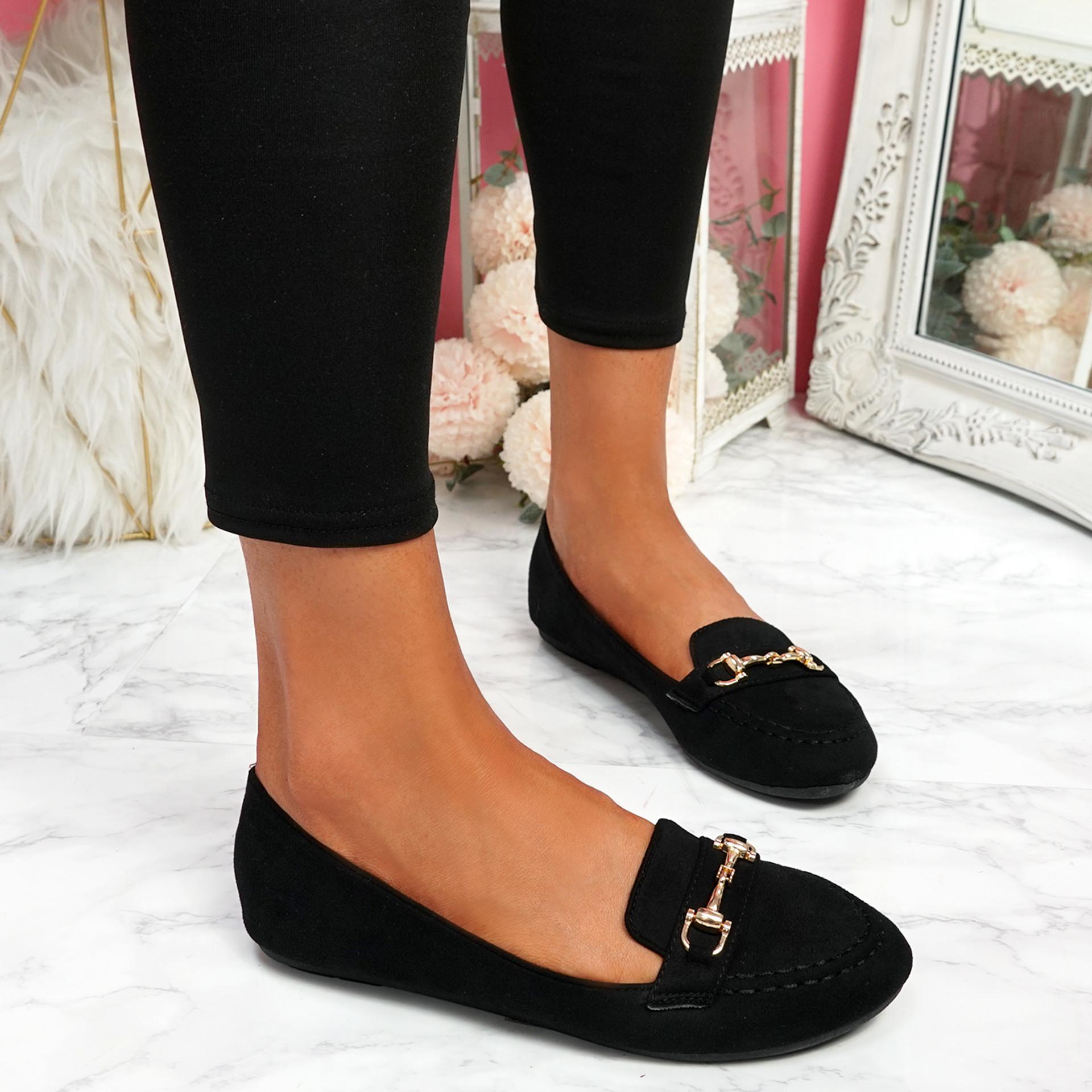Mero Black Flat Ballerinas