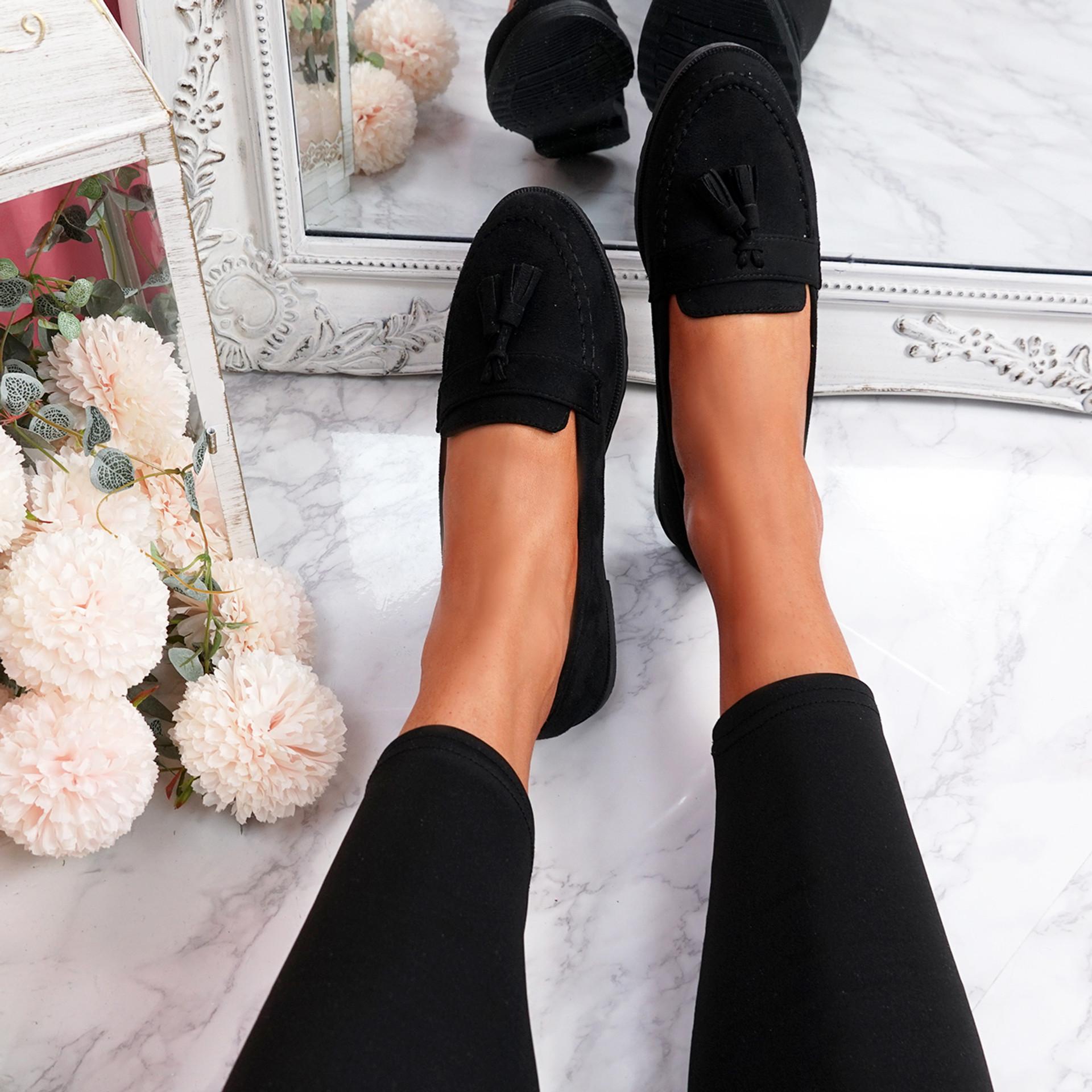 Latta Black Flat Ballerinas