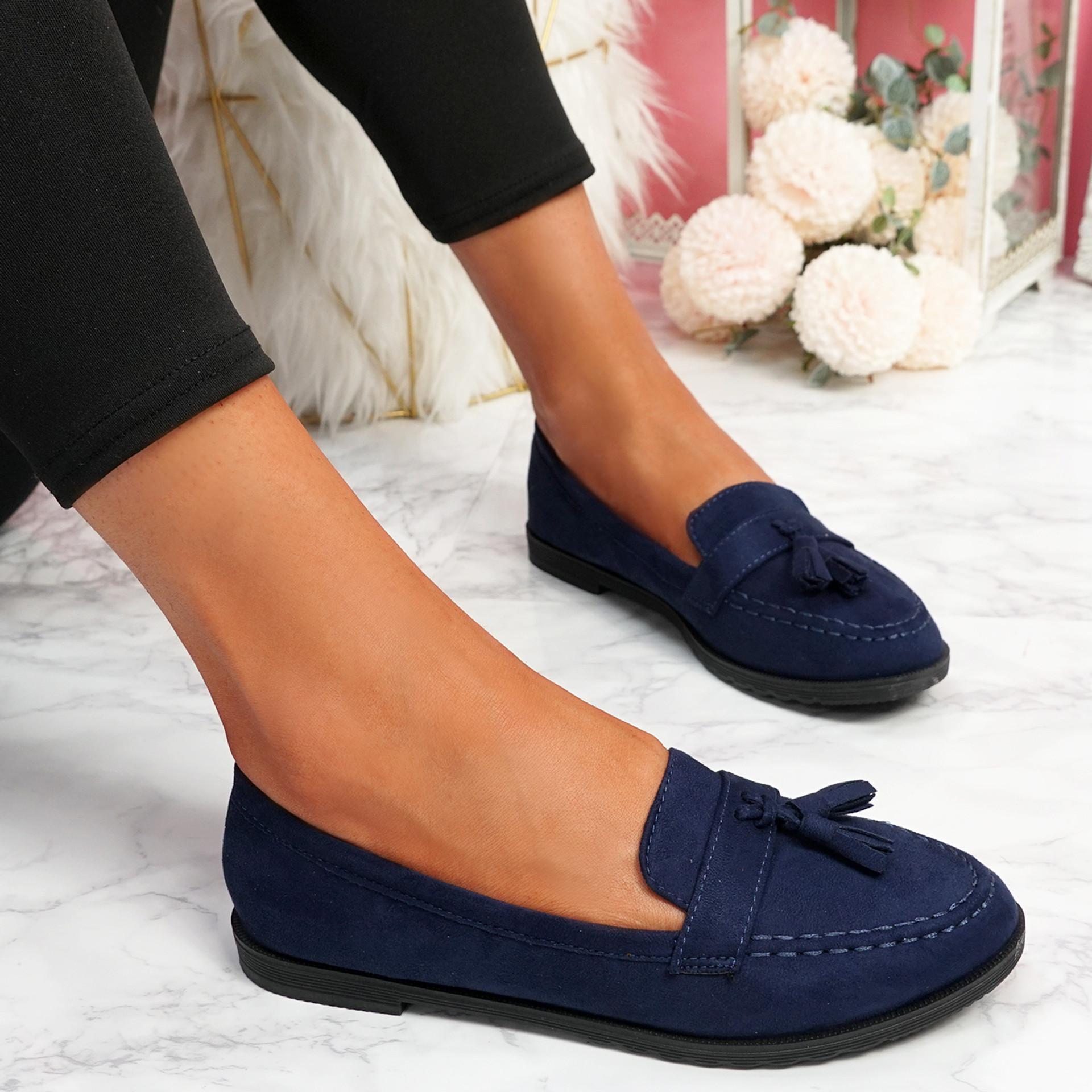 Latta Dark Blue Flat Ballerinas