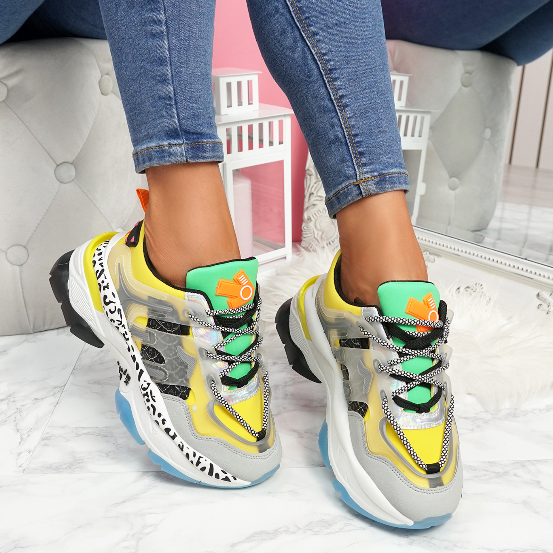 Robby Yellow Chunky Trainers