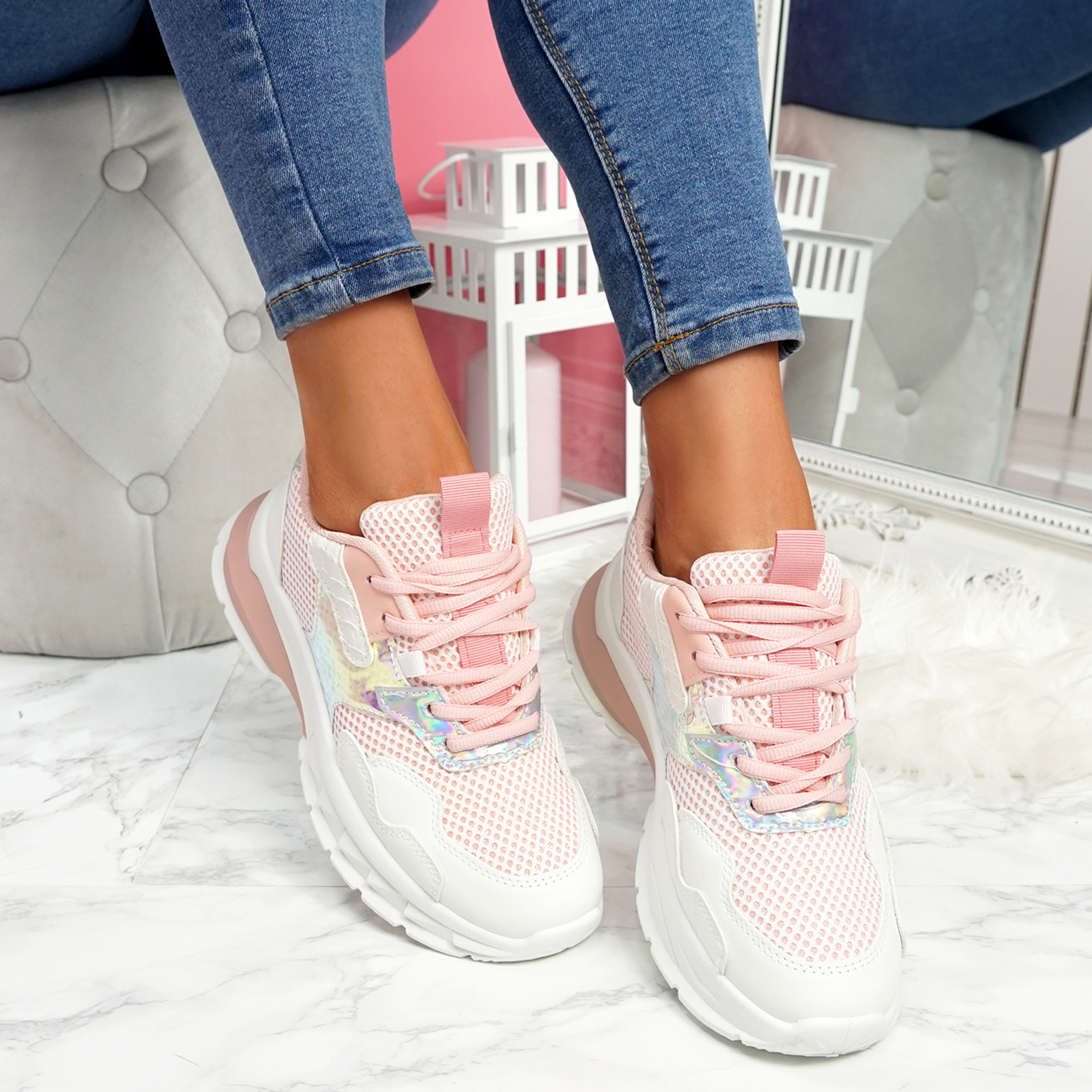 Geppo Pink Chunky Trainers