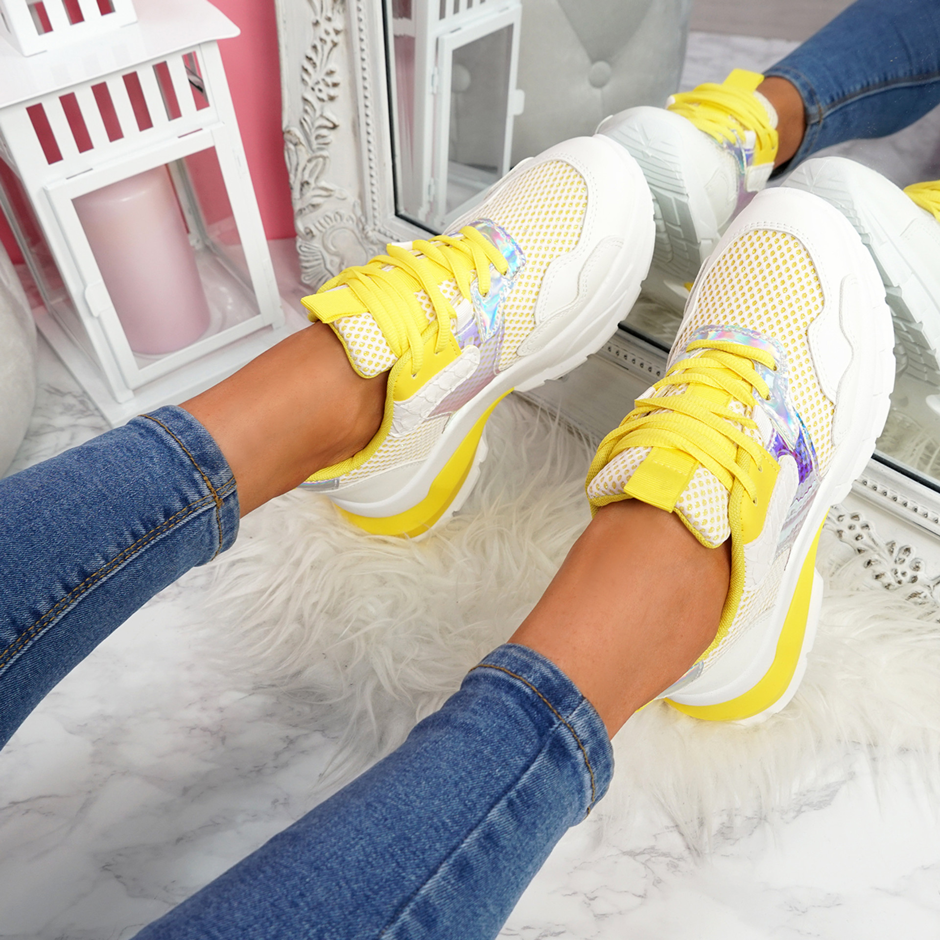 Geppo Yellow Chunky Trainers
