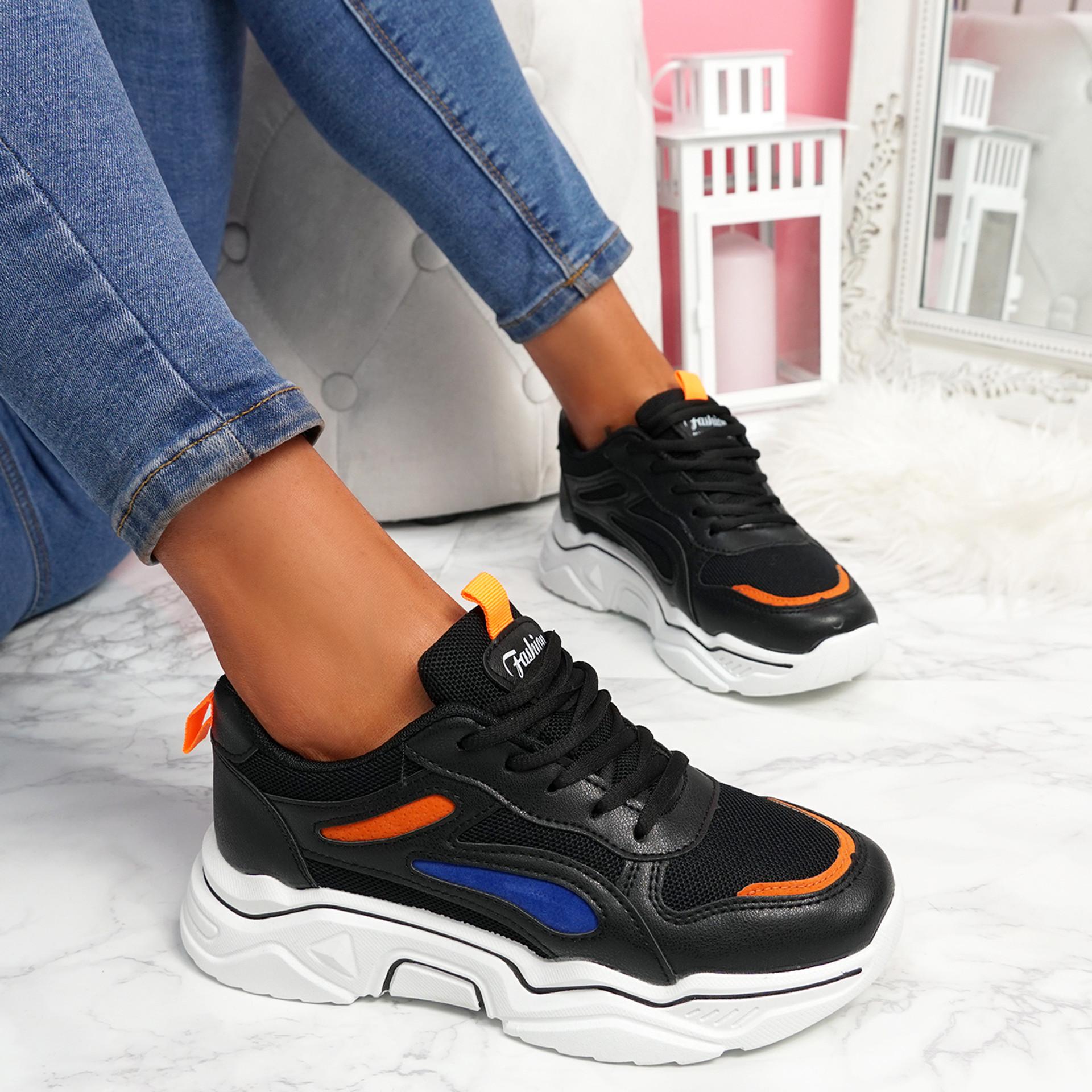 Nimme Black Chunky Sneakers