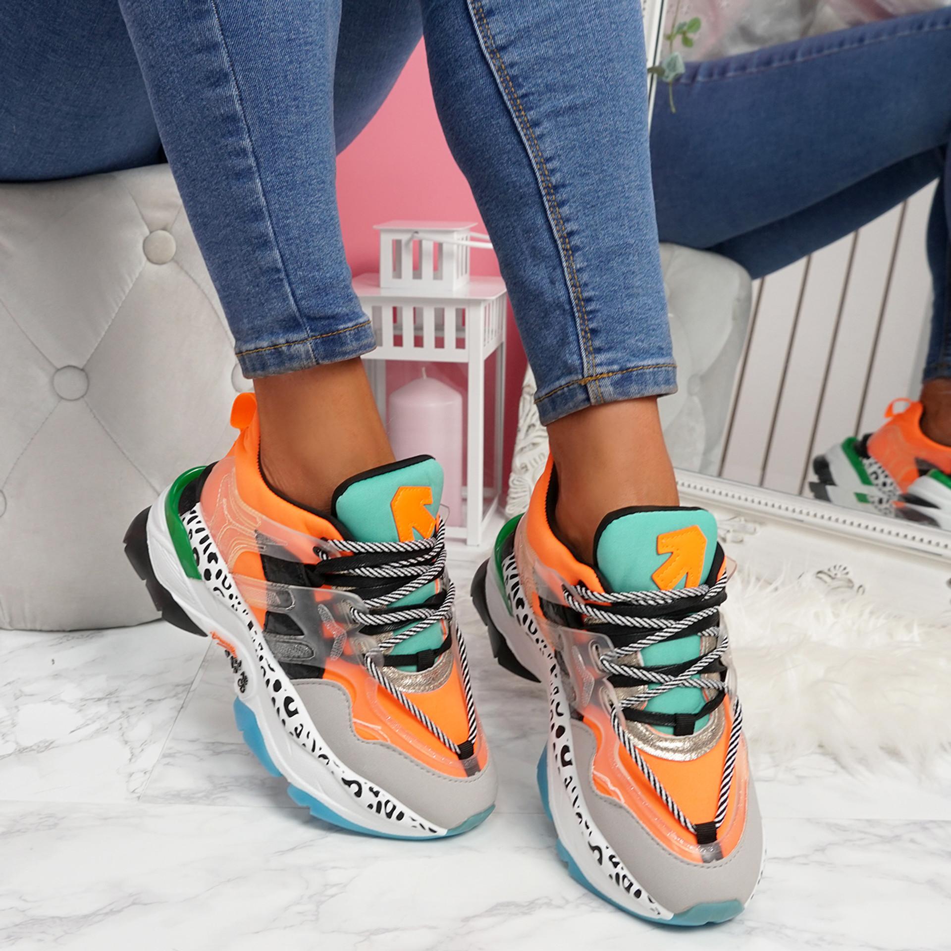 Logy Orange Chunky Sneakers