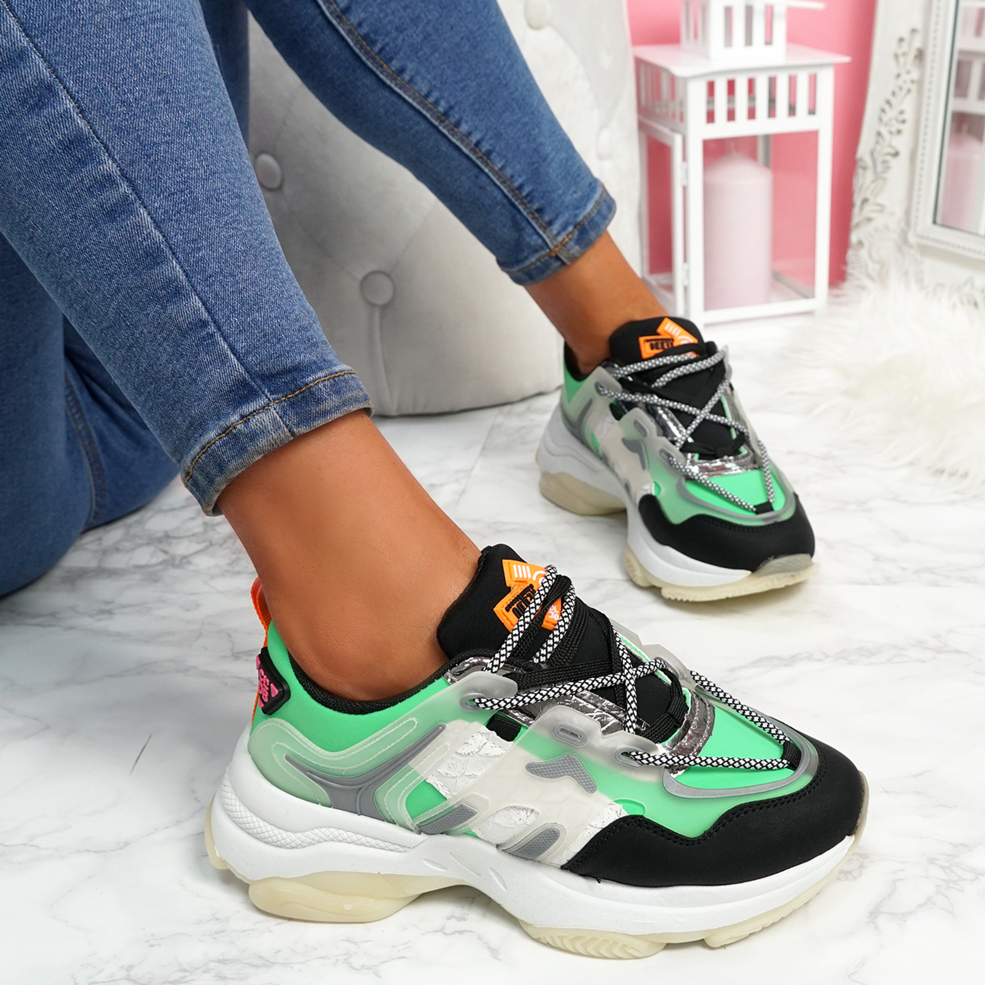 Fony Green Chunky Trainers