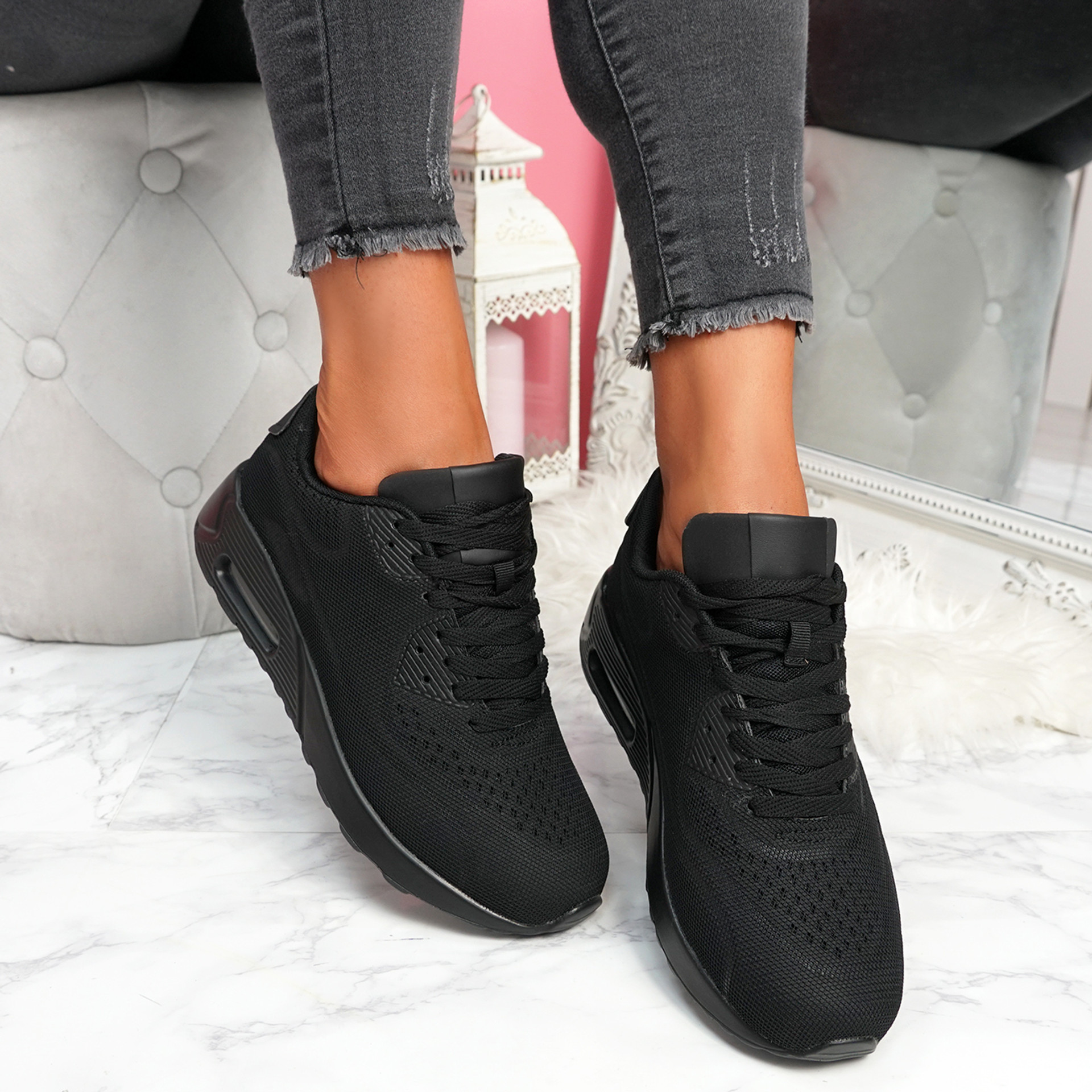 Geppy All Black Fashion Trainers
