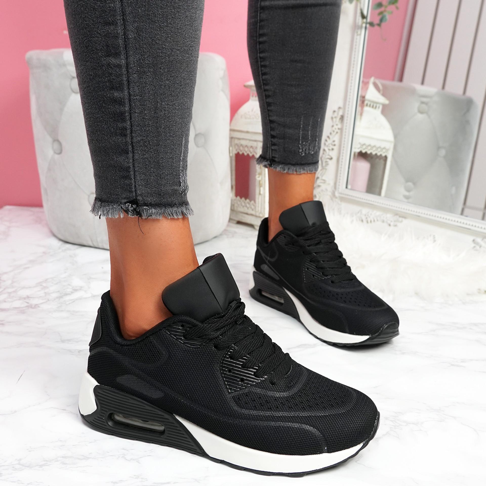 Geppy Black White Fashion Trainers