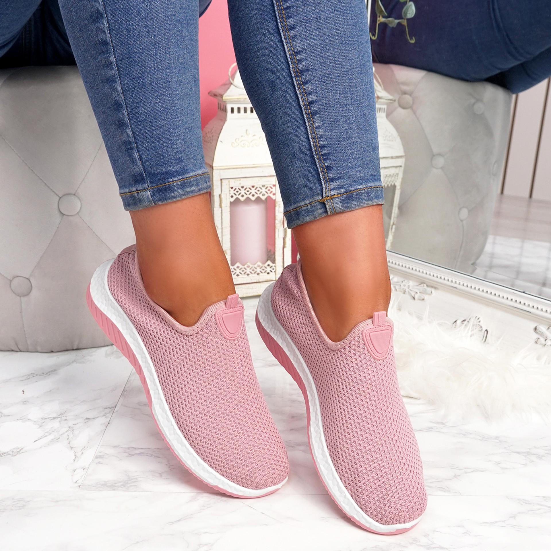 Nugga Pink Slip On Trainers