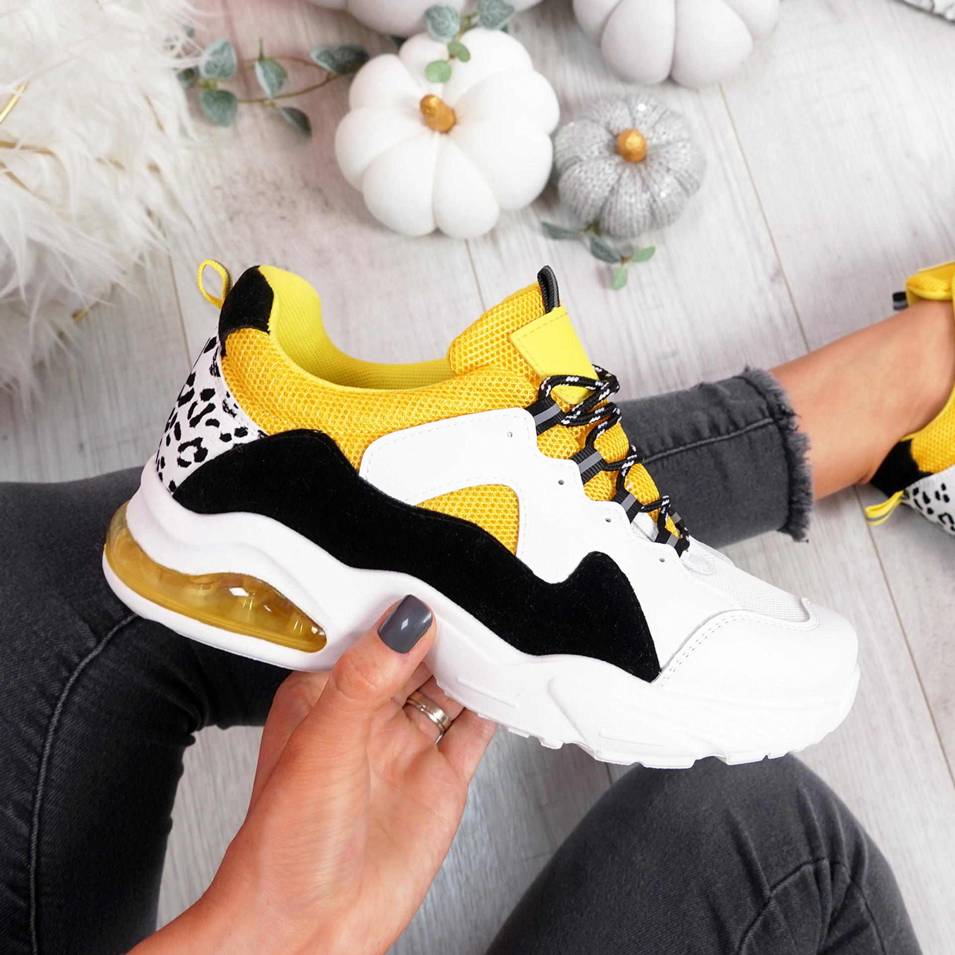 Juffy Yellow Chunky Trainers