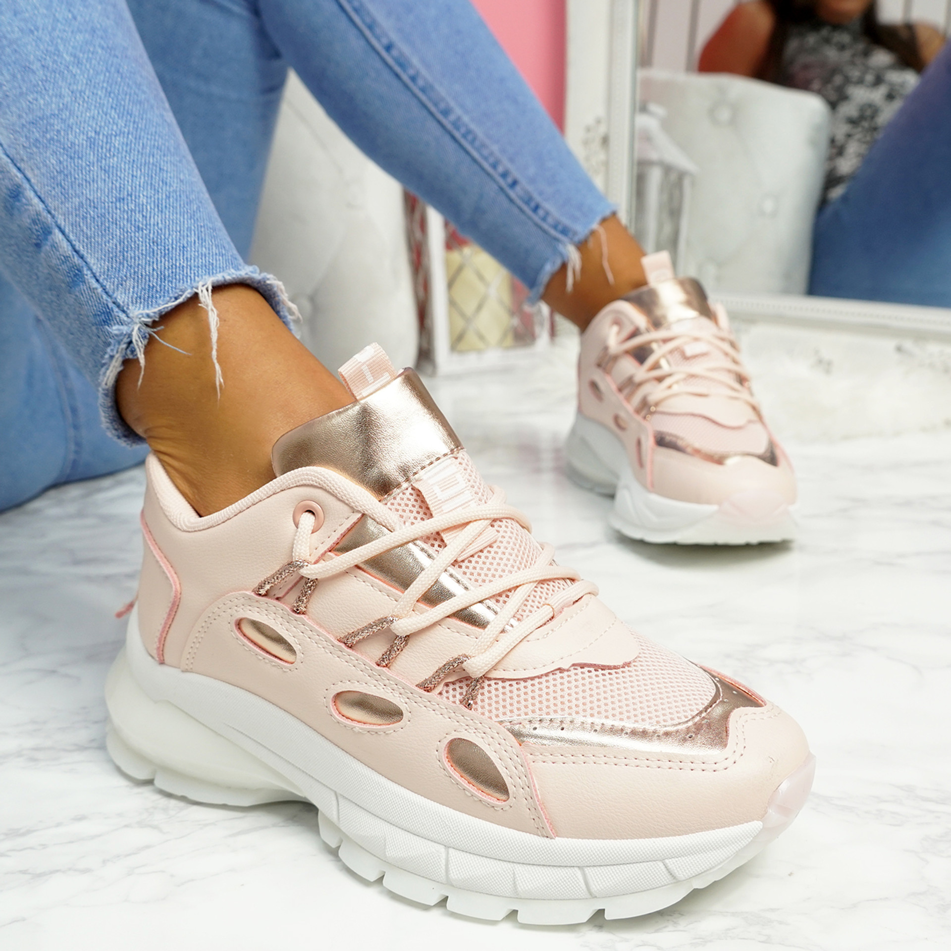 Potty Pink Party Sneakers