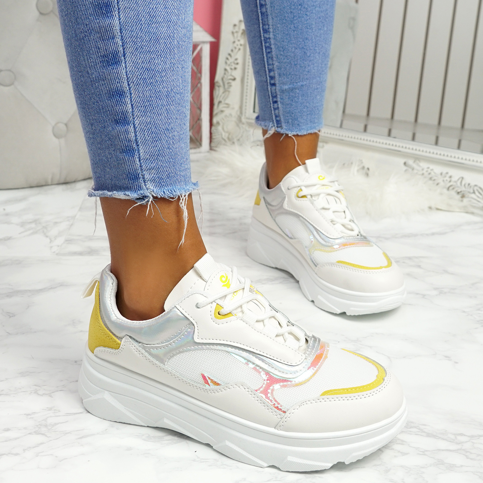 Pirra Yellow Chunky Trainers