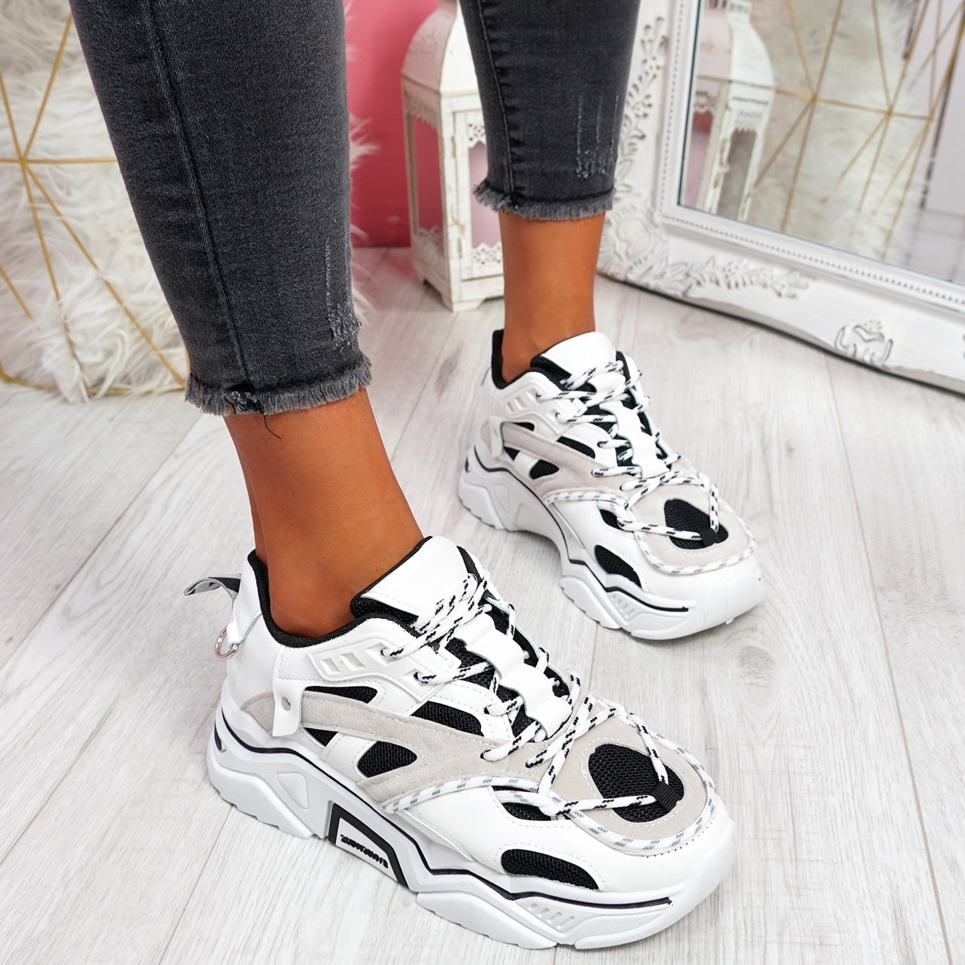 Lotte White Chunky Trainers