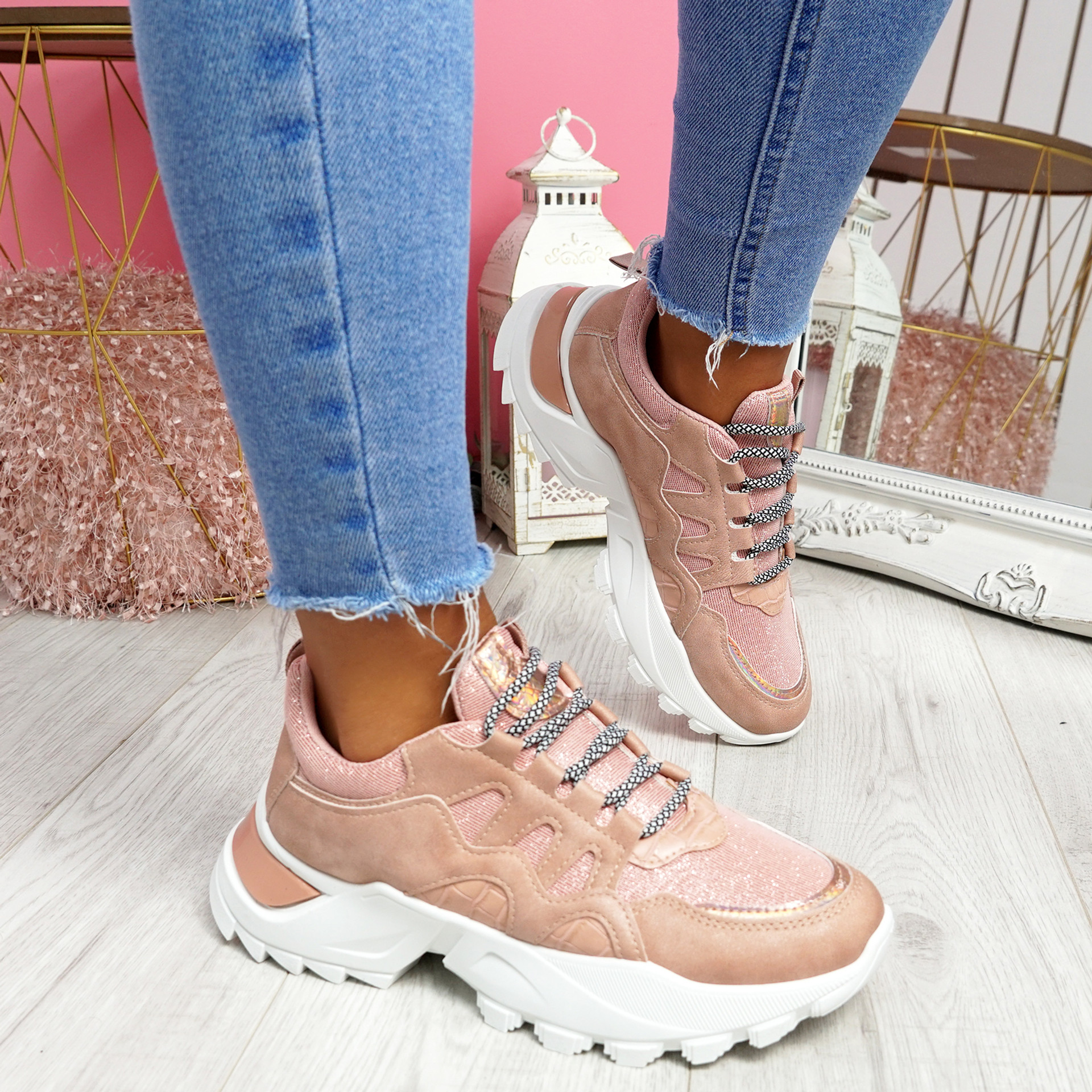 Vory Pink Chunky Sneakers