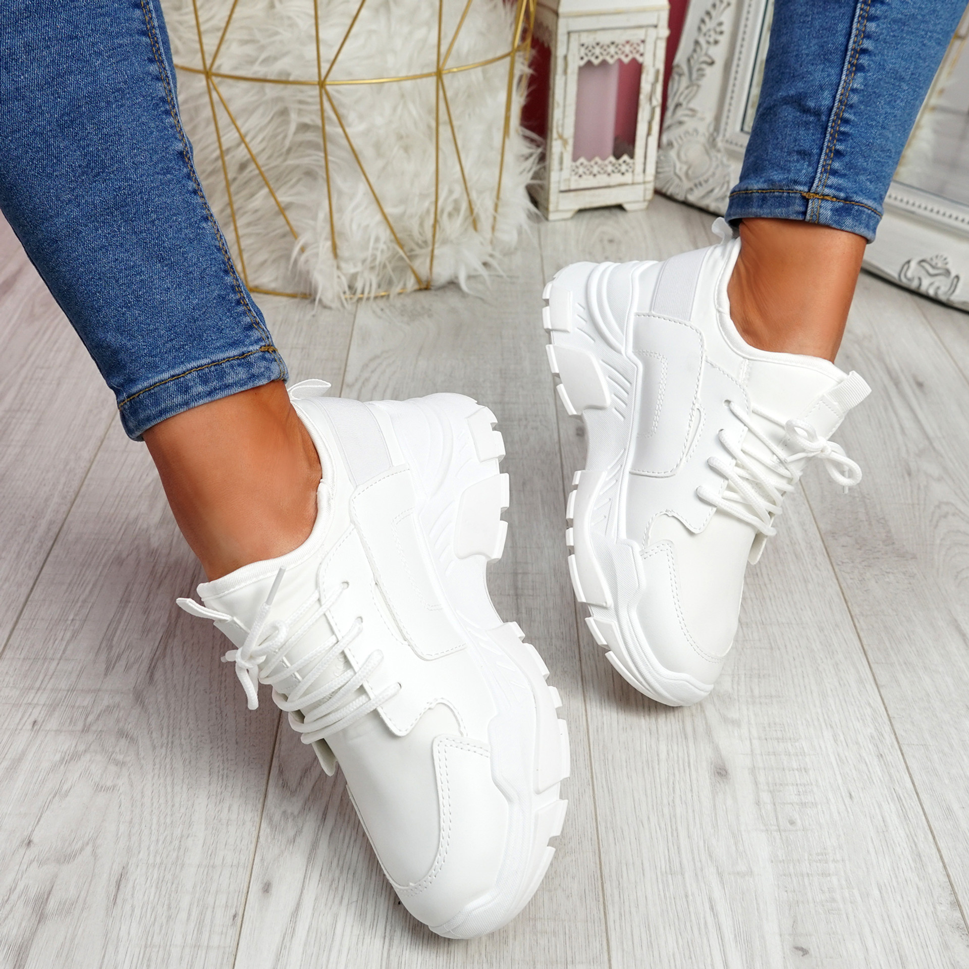 Limma White Chunky Trainers