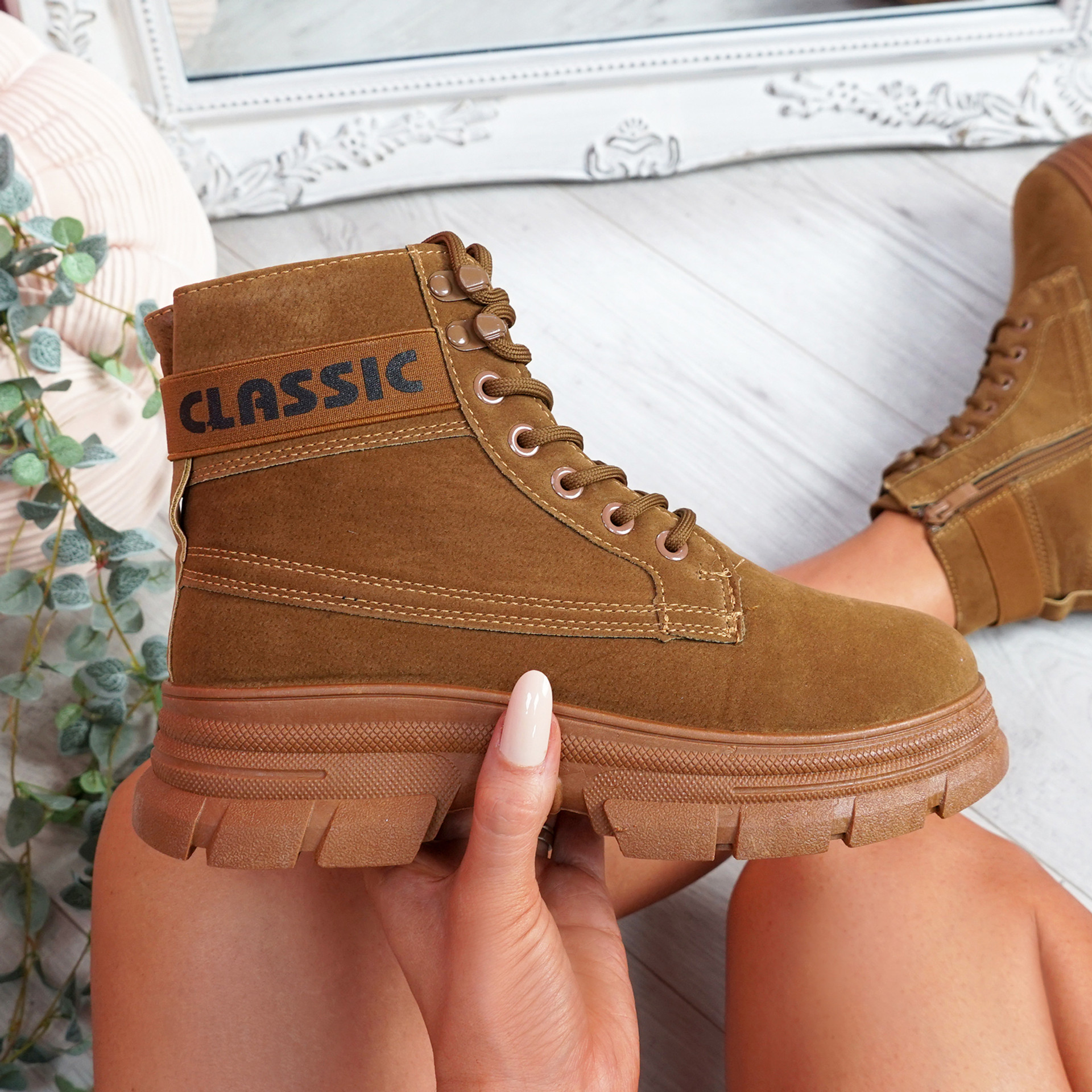 Adya Camel Ankle Boots