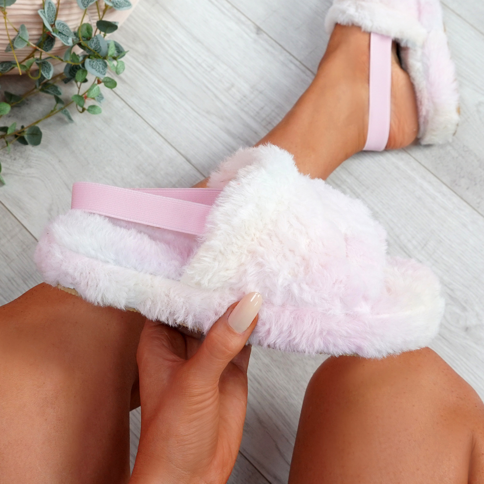Namma Rainbow Fluffy Sandals