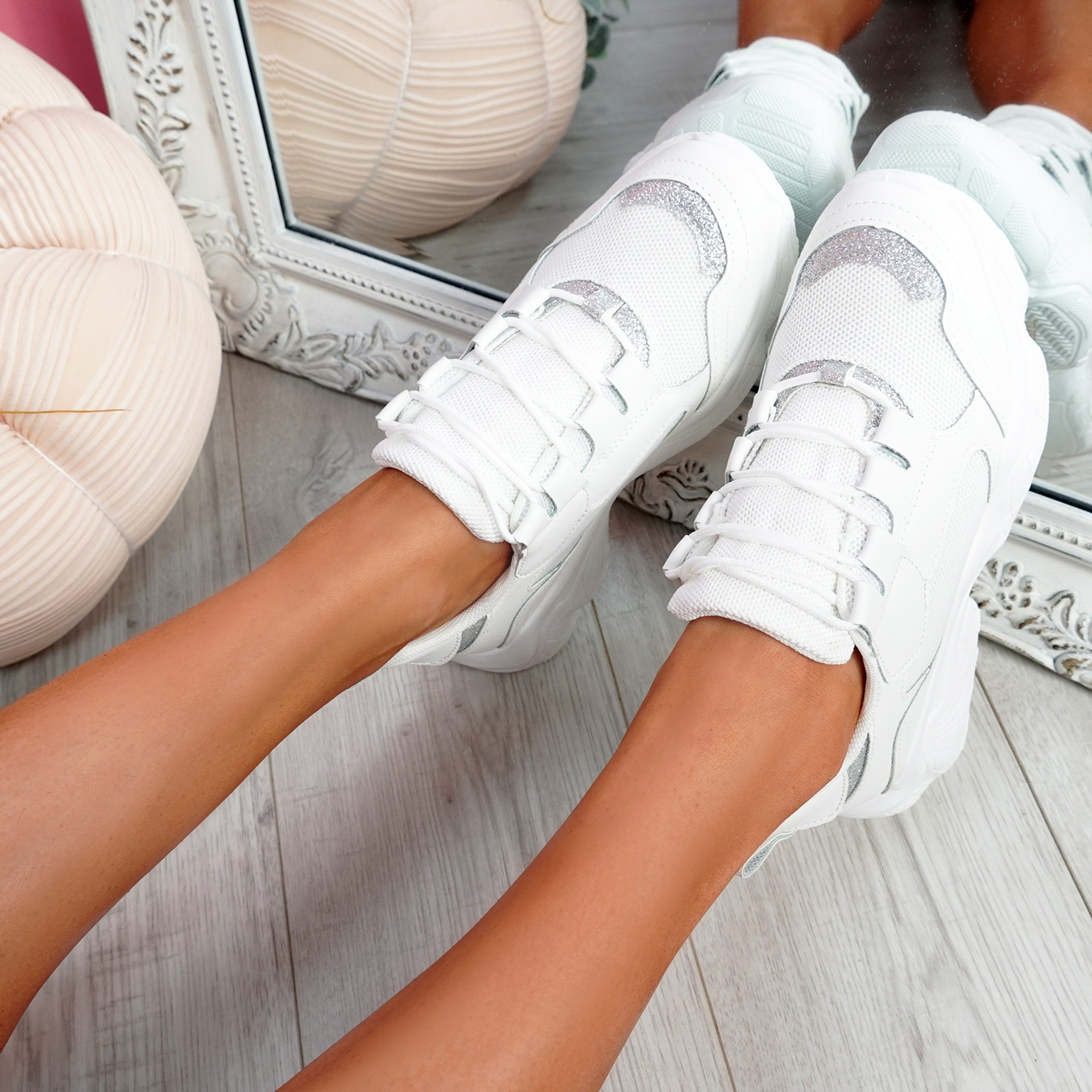 Lonne White Chunky Sneakers