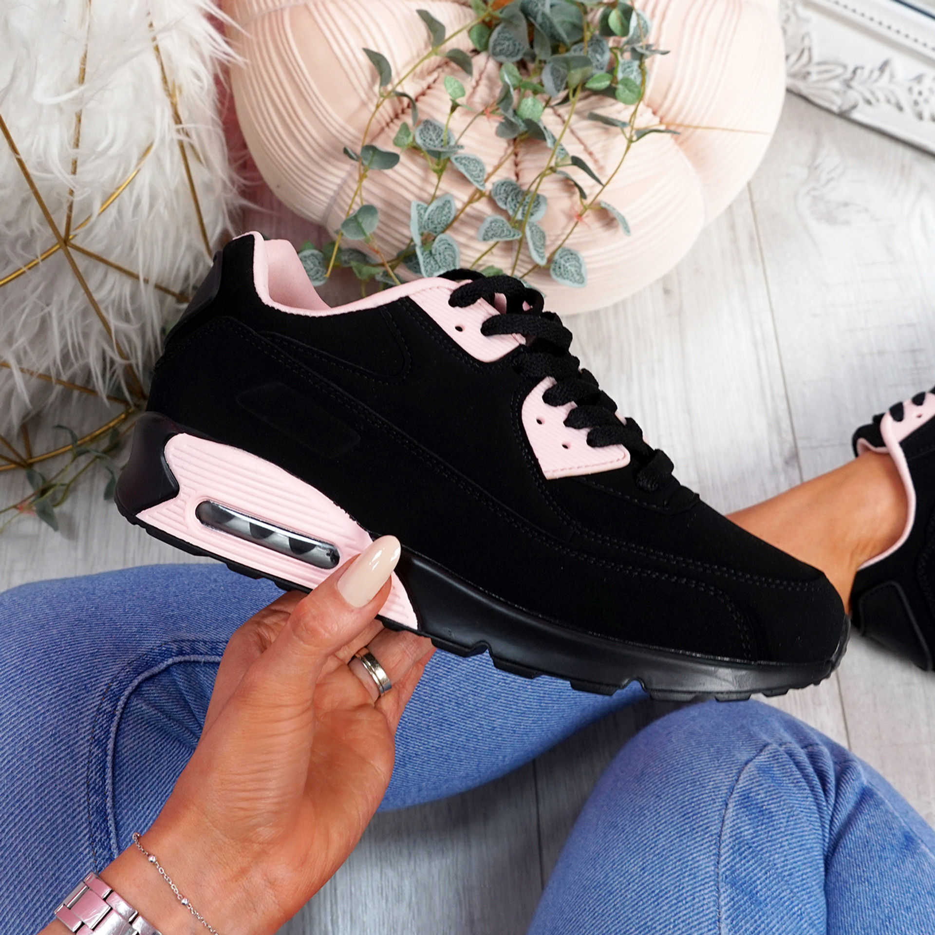 Monka Black Pink Trainers