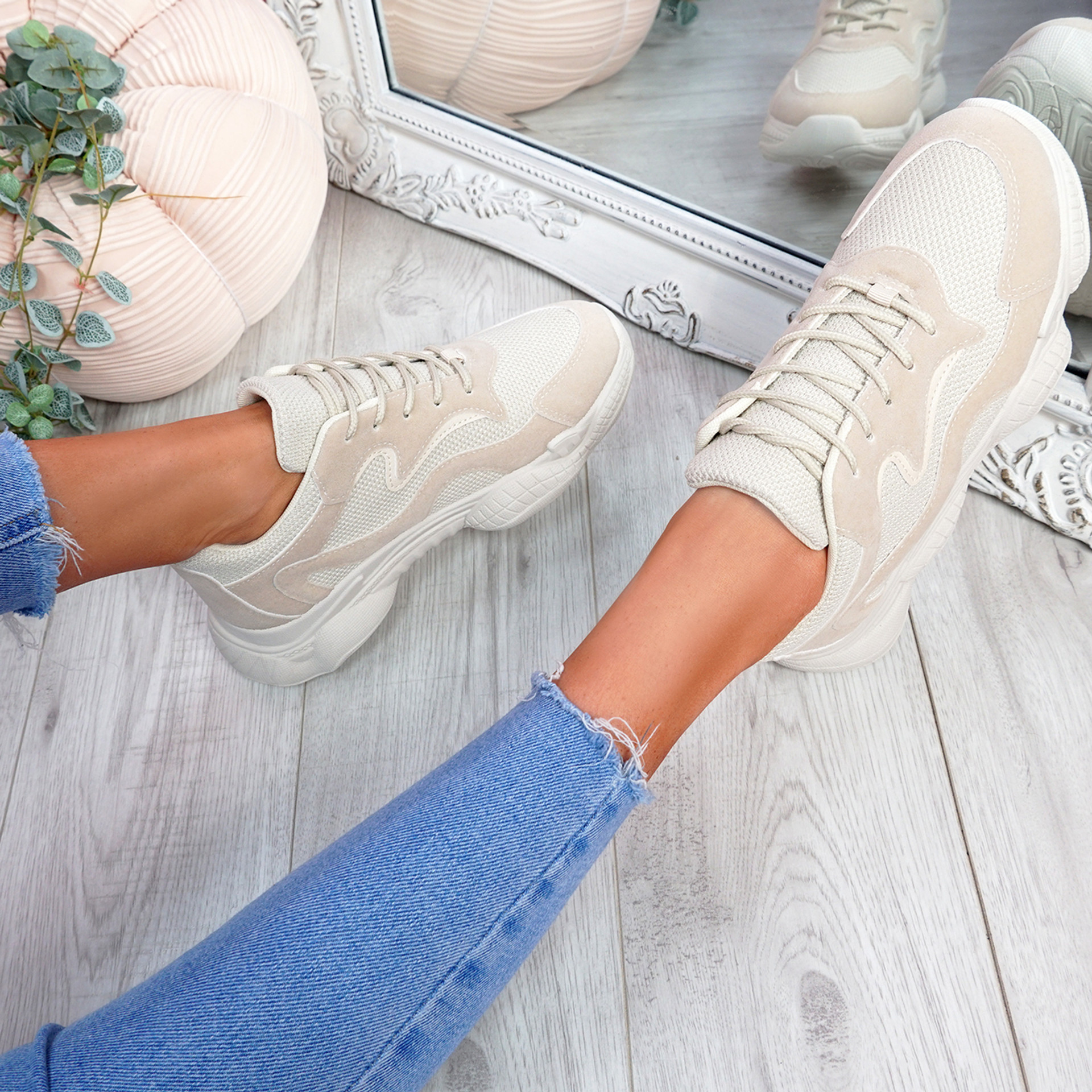 Hurra Sand Wide Fit Trainers