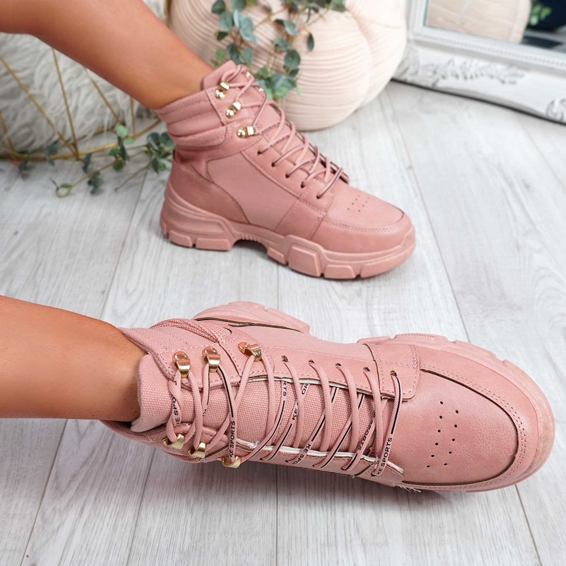 Luva Pink Ankle Boots