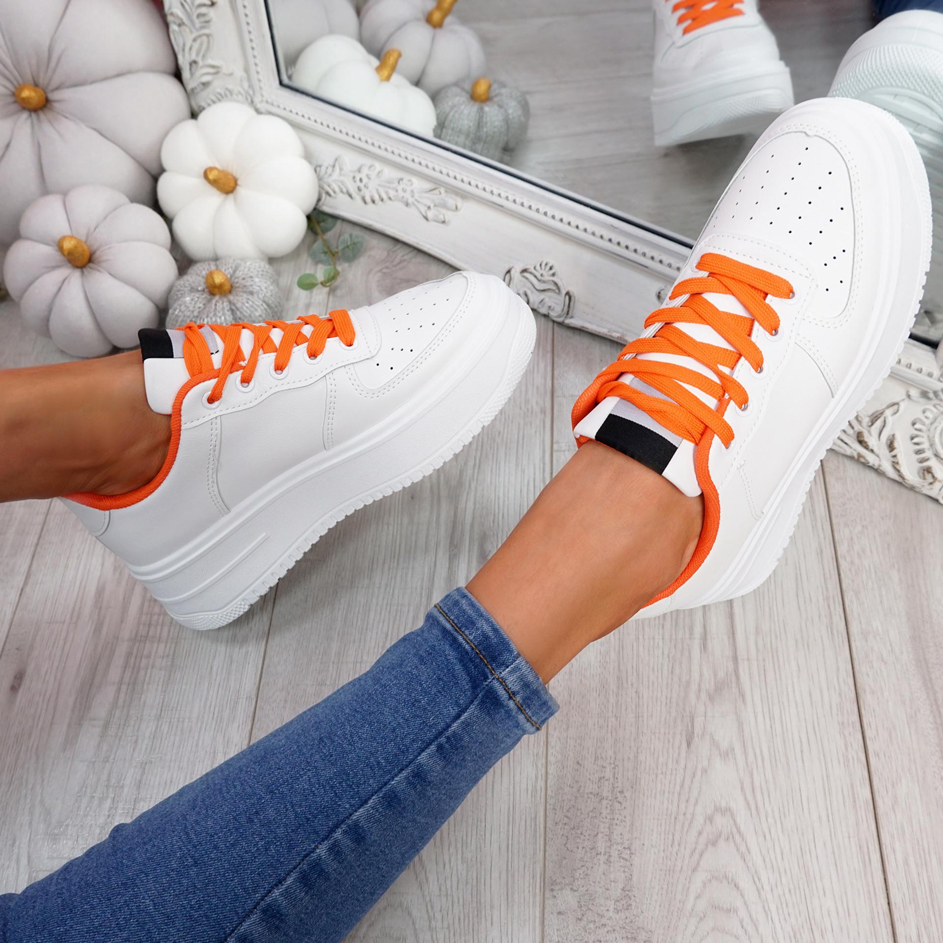 Lazza Orange Flatform Trainers