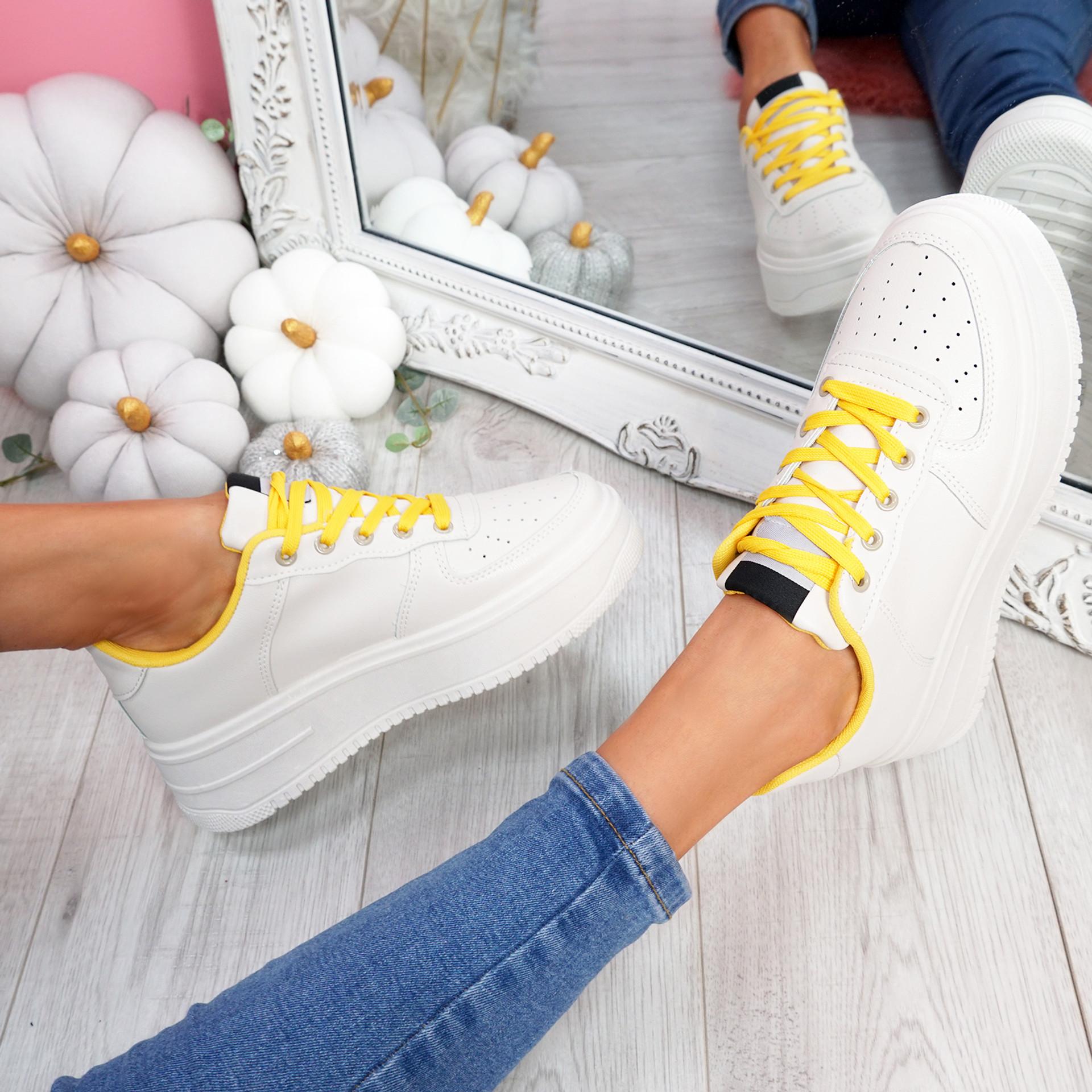 Lazza Yellow Flatform Trainers