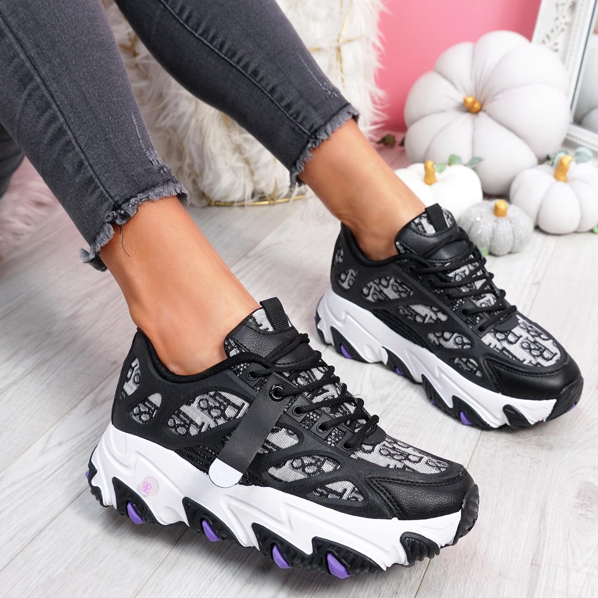 Luka Black Chunky Sneakers