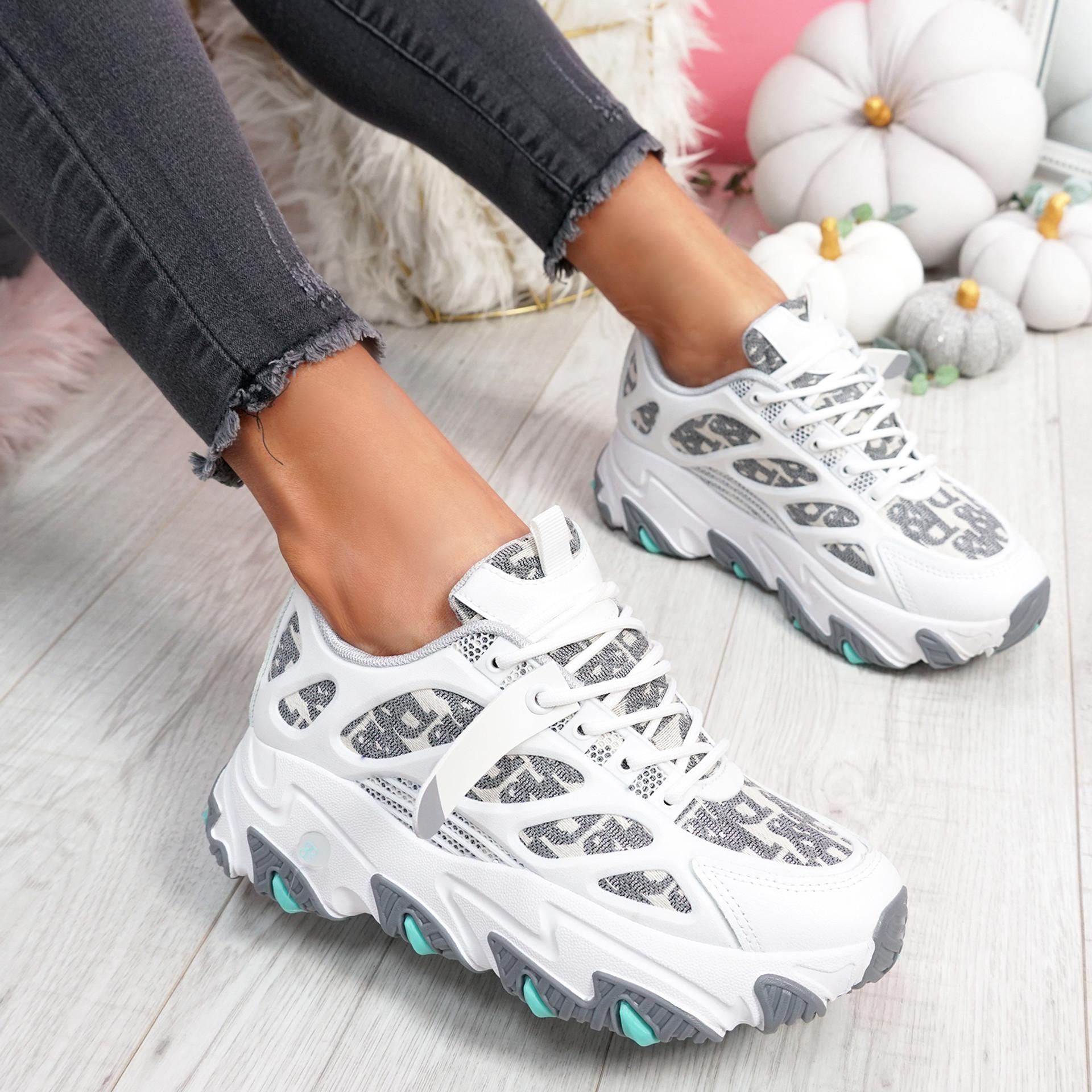 Luka White Chunky Sneakers