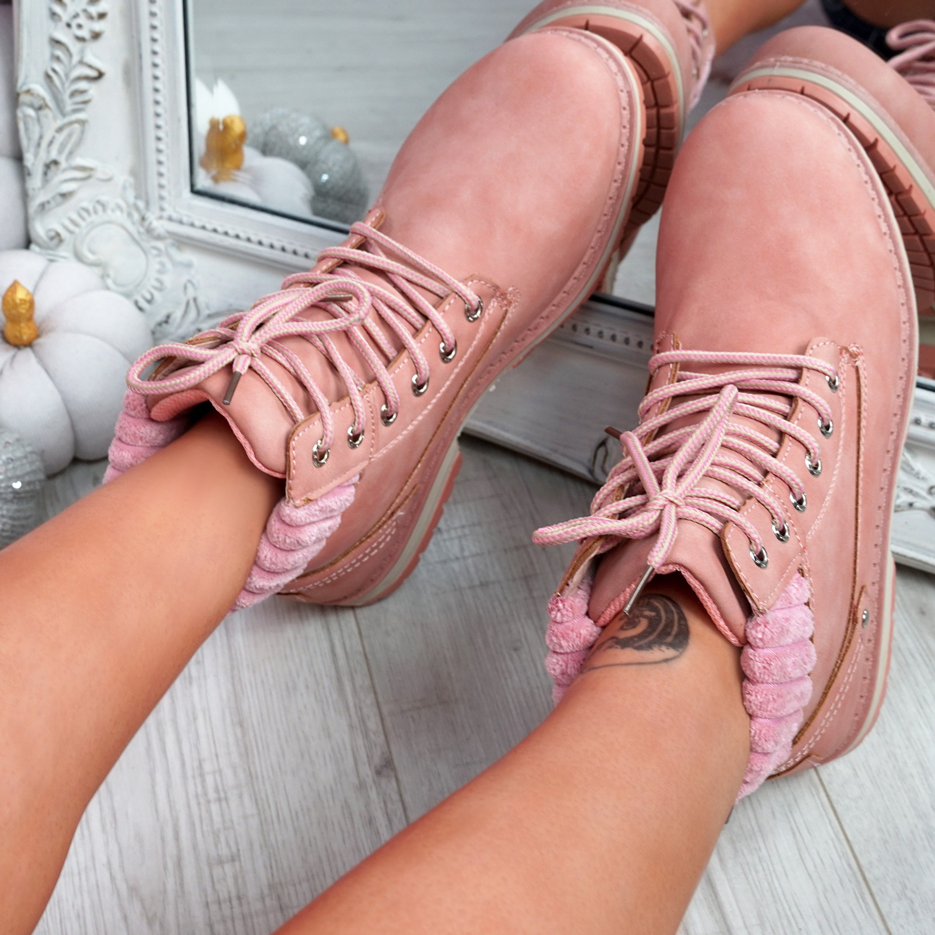 Dixa Pink Ankle Boots