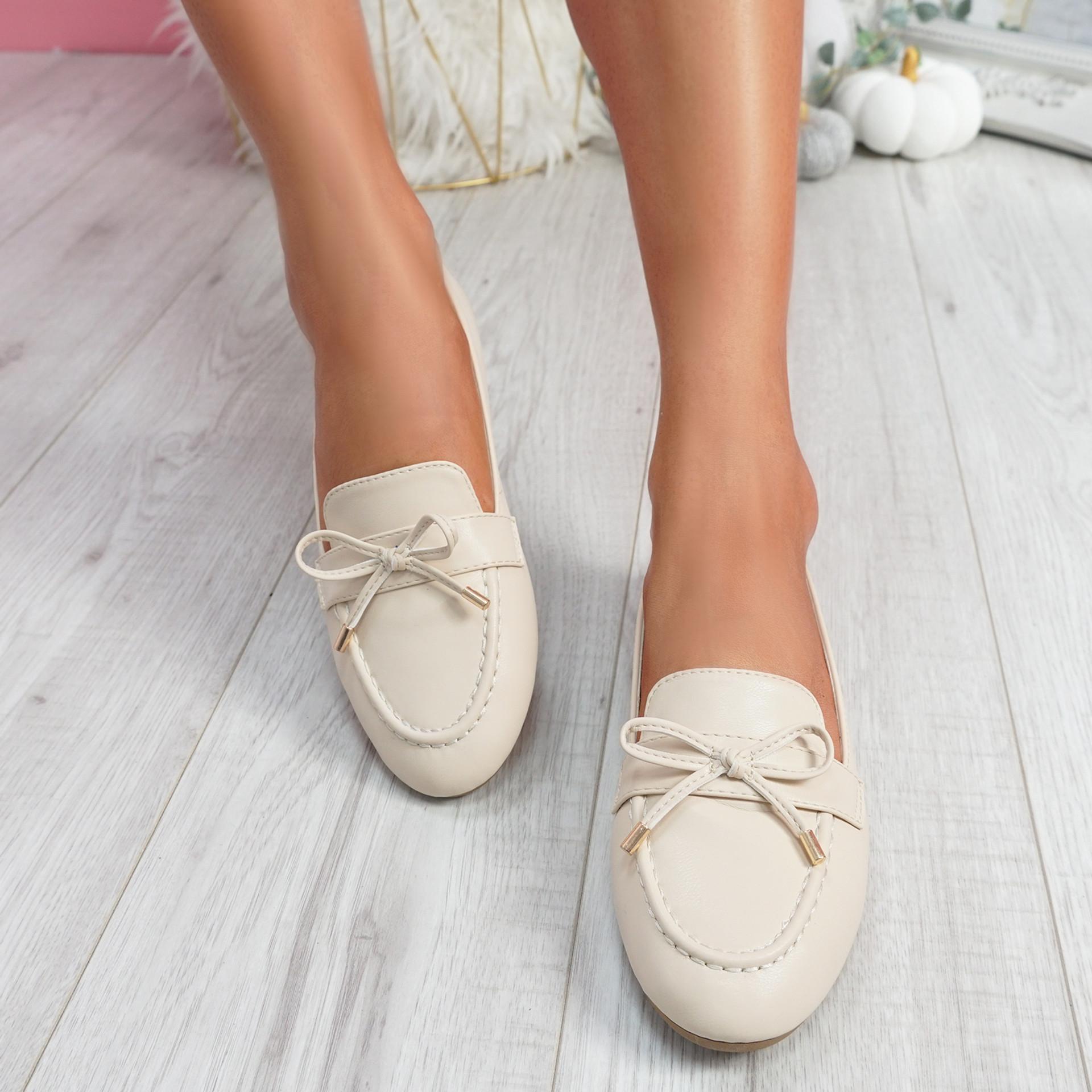 Pinga Beige Flat Ballerinas