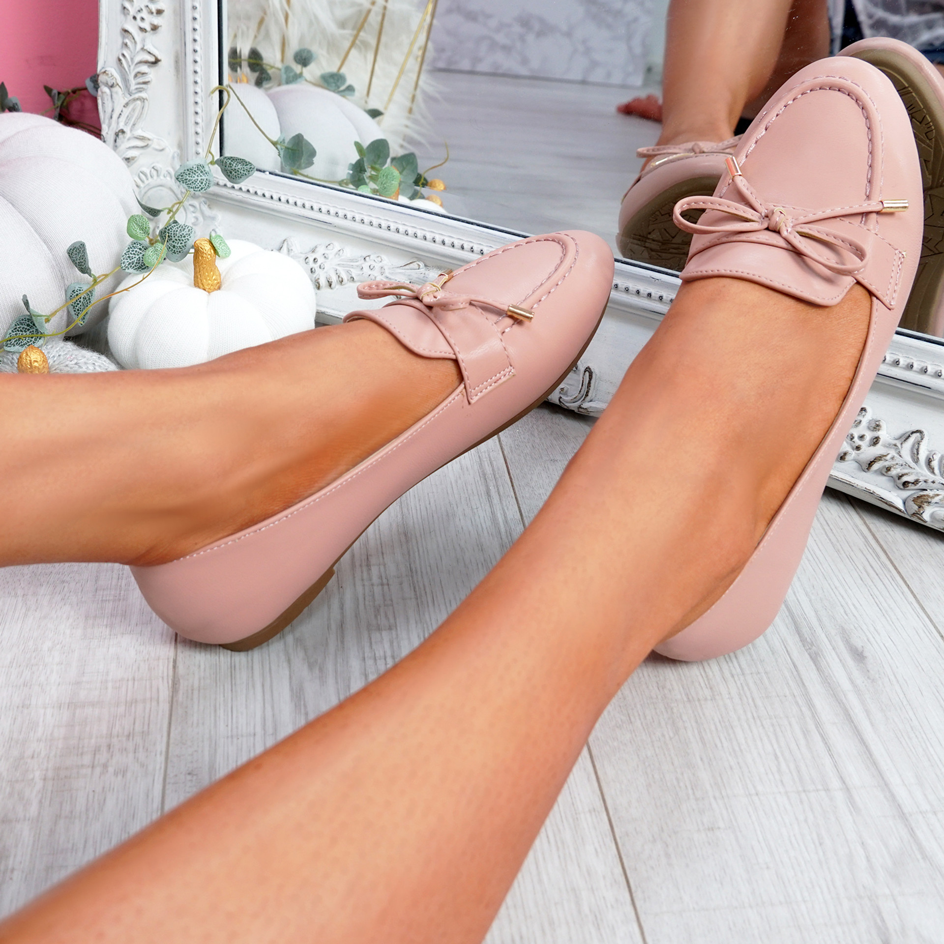 Pinga Pink Flat Ballerinas