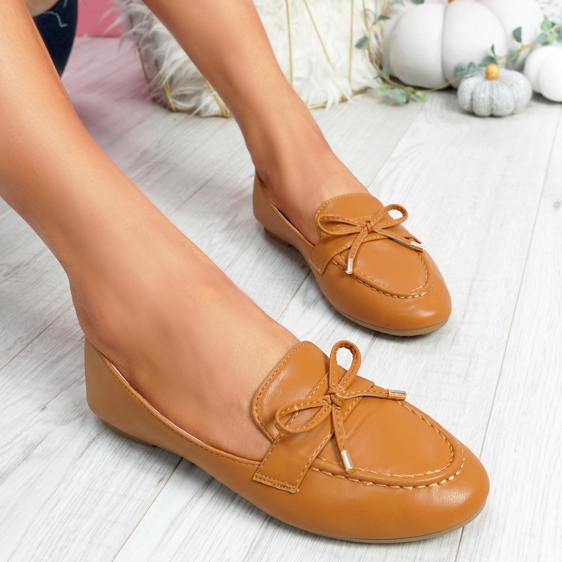 Pinga Camel Flat Ballerinas