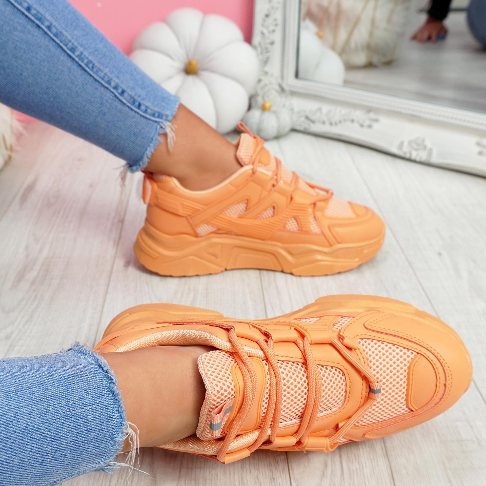 Norre Orange Chunky Sneakers